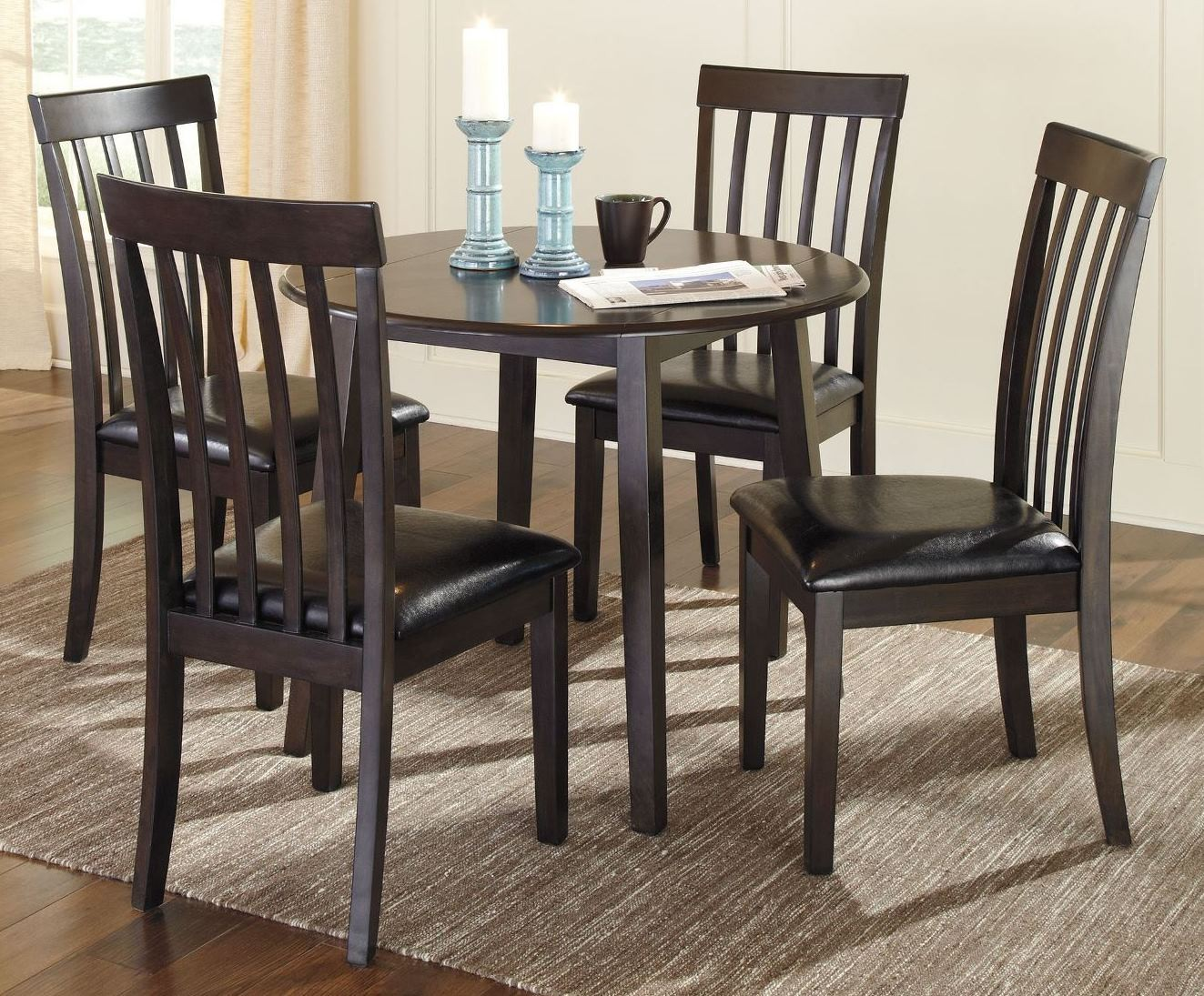 Round Dining Room Sets For 4 dining room set with leaves delano 7 piece dining room set w leaf