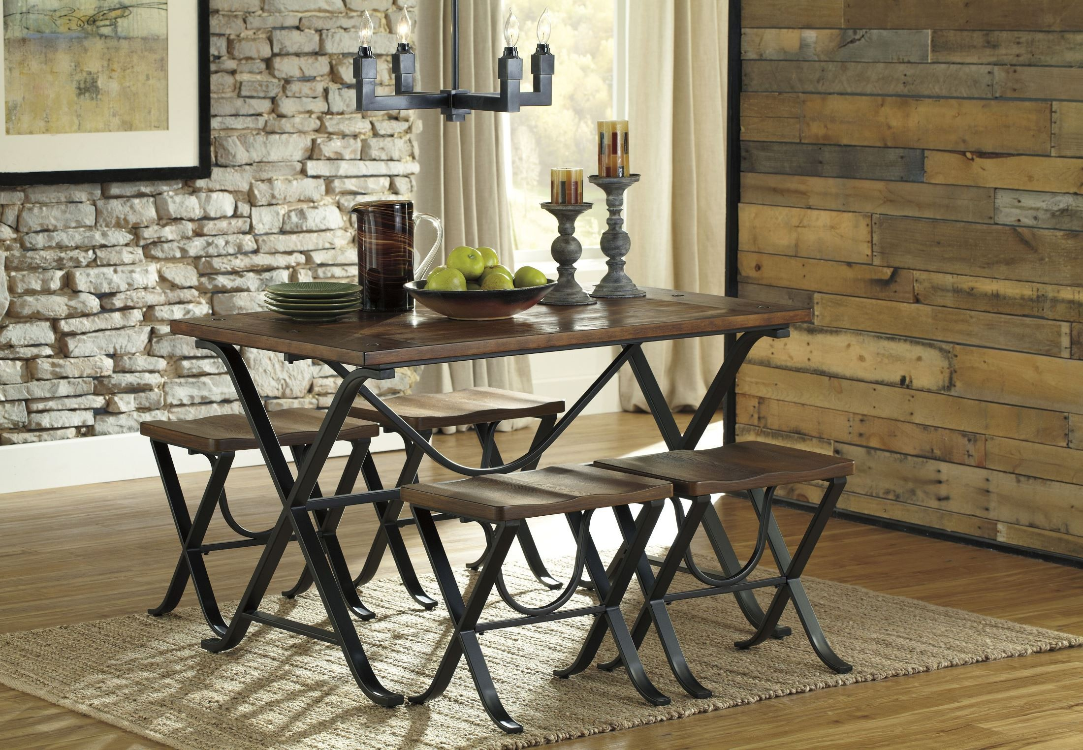 Freimore 5 Pieces Rectangular Dining Room Table Set D311