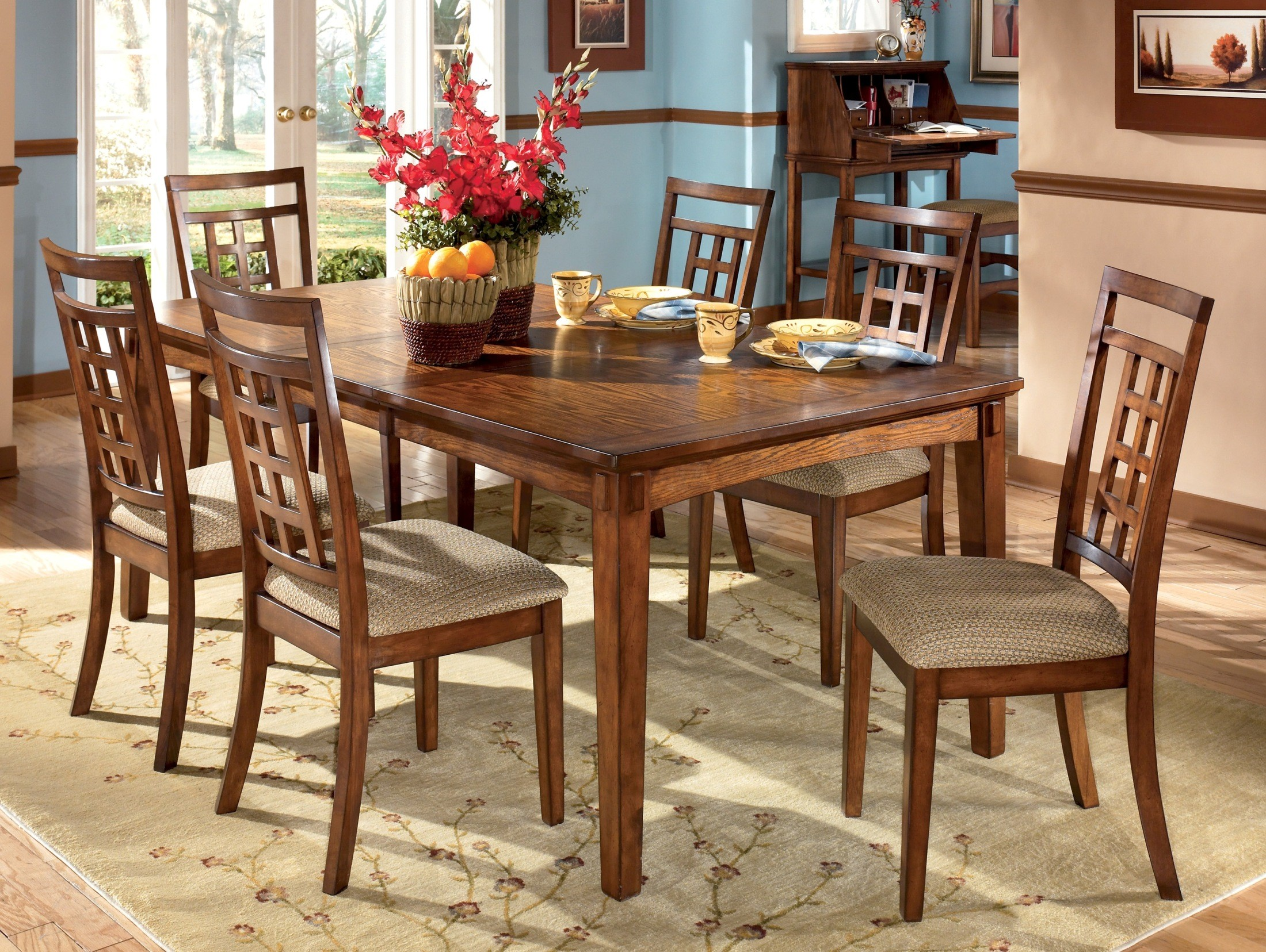 cross island dining table set by ashley furniture d319 dining