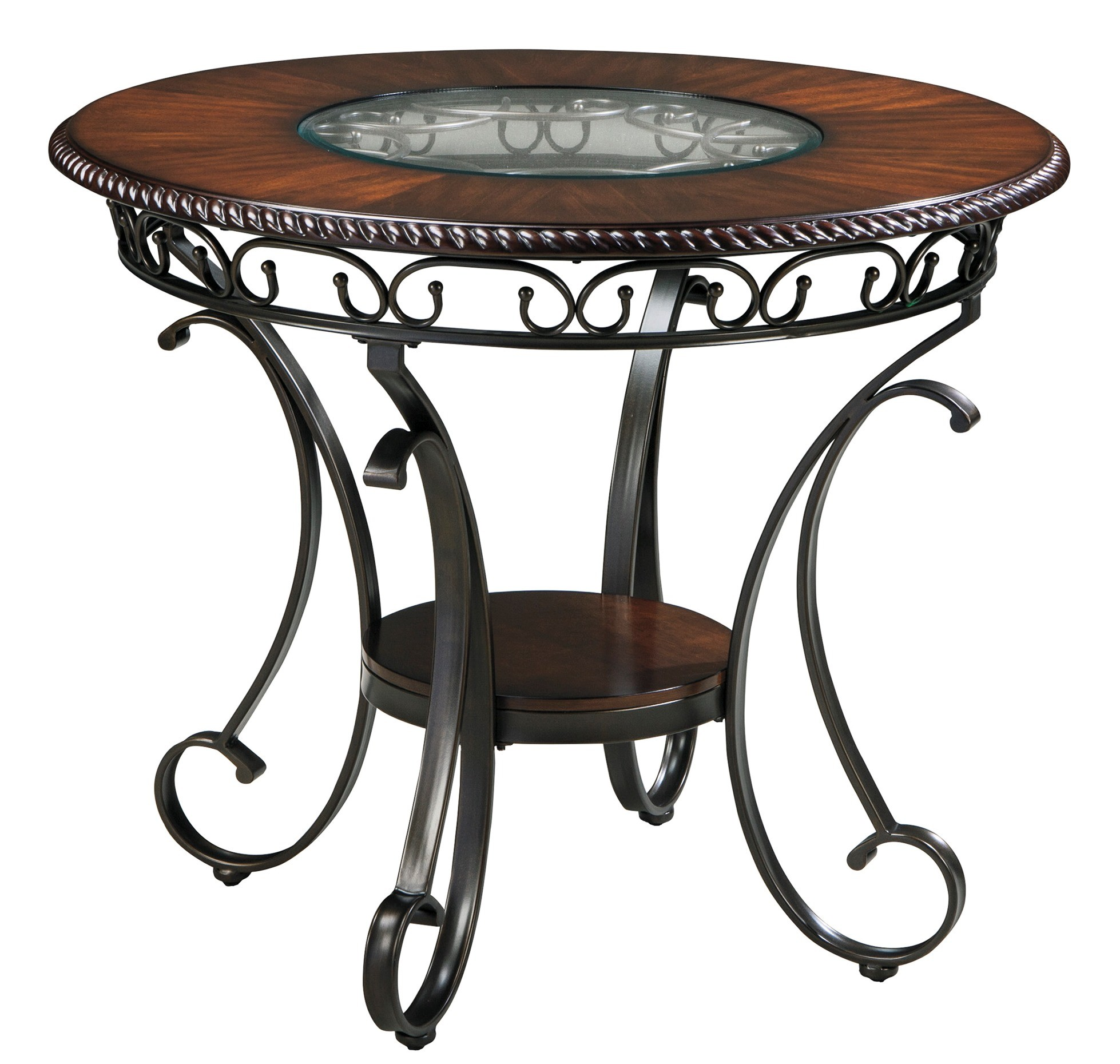 Glambrey round dining room counter table from ashley d329 for Round dining room tables