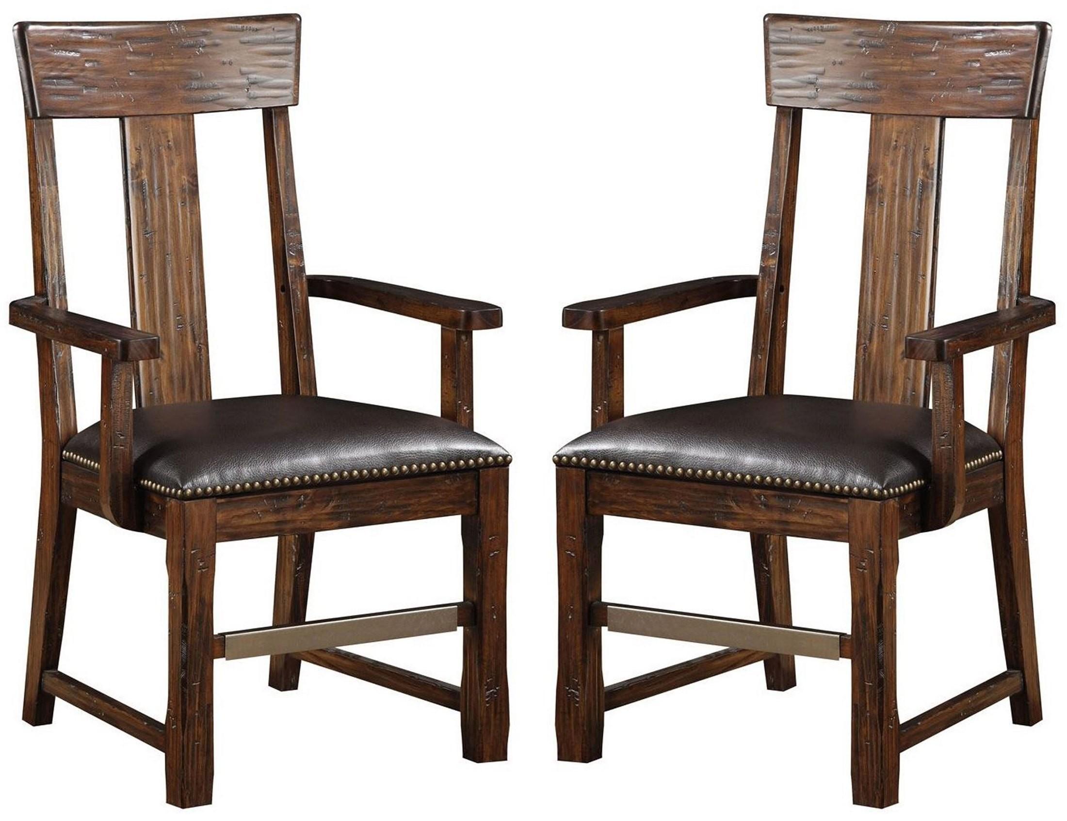 ashland brown splat back arm chair set of 2 d349 21 2pk k