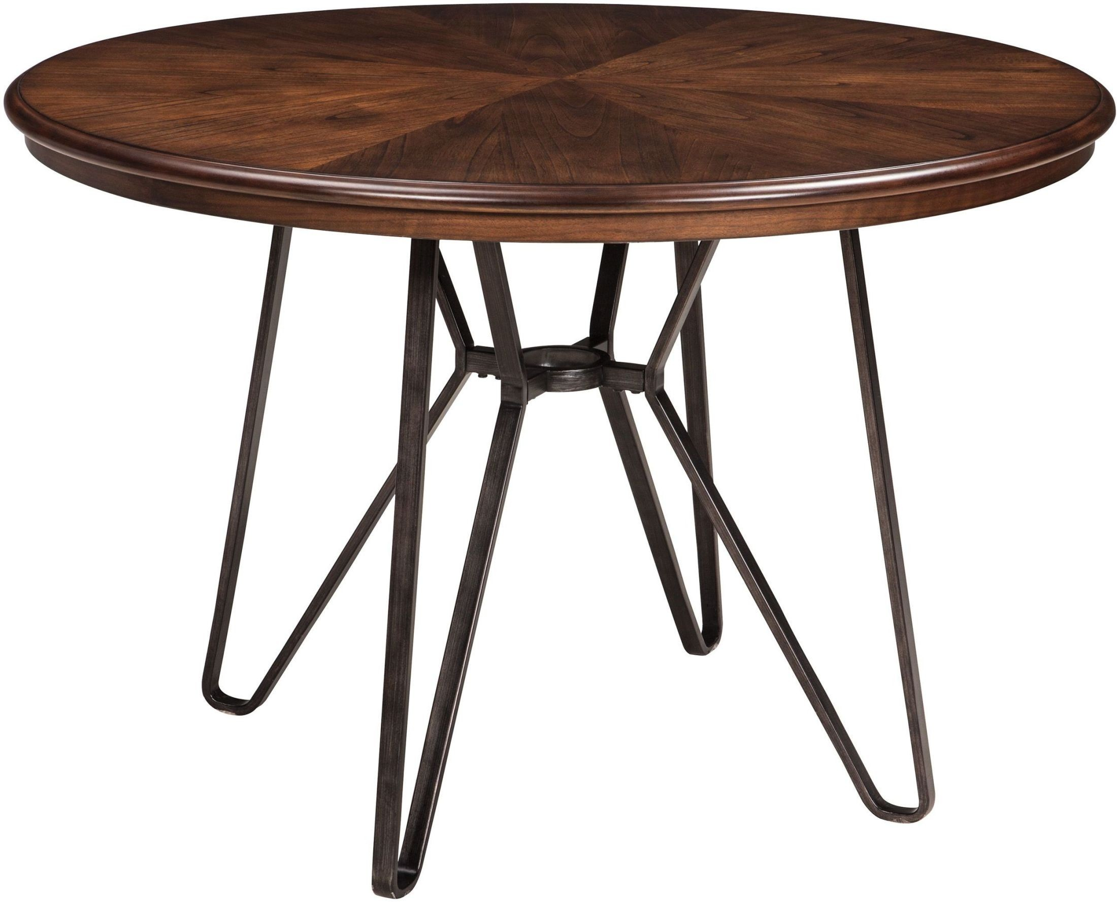 Centiar Two Tone Brown Round Dining Table D372 15 Ashley