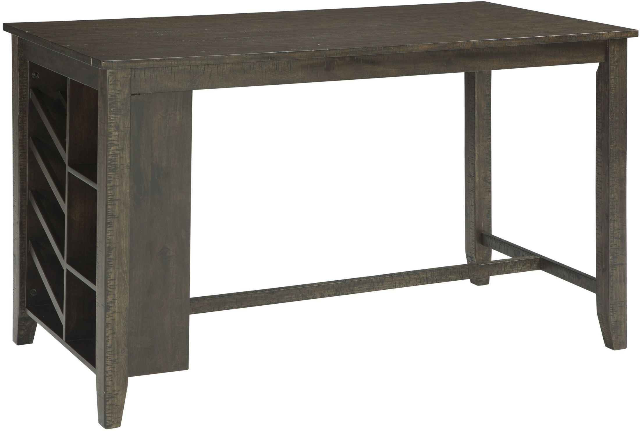 light brown rectangular counter height dining table d397 32 ashley