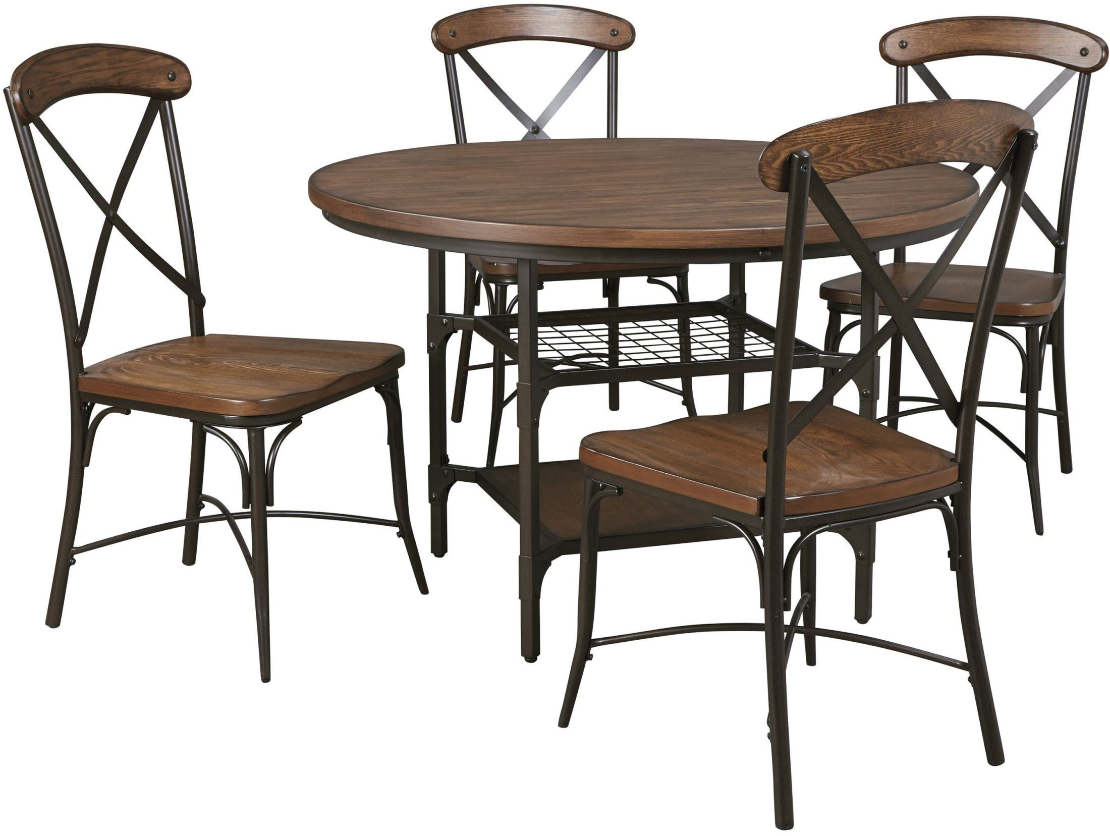 Rolena Brown Round Dining Room Set from Ashley D405 15  : d405 15 014 sw2 from colemanfurniture.com size 2200 x 1657 jpeg 373kB