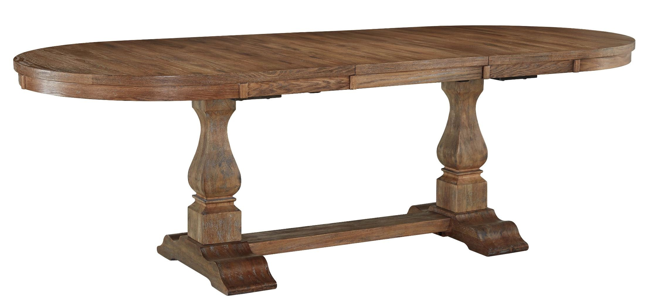 Danimore Light Brown Extendable Oval Dining Table from  : d473 45t 45b sw from colemanfurniture.com size 2200 x 1040 jpeg 244kB