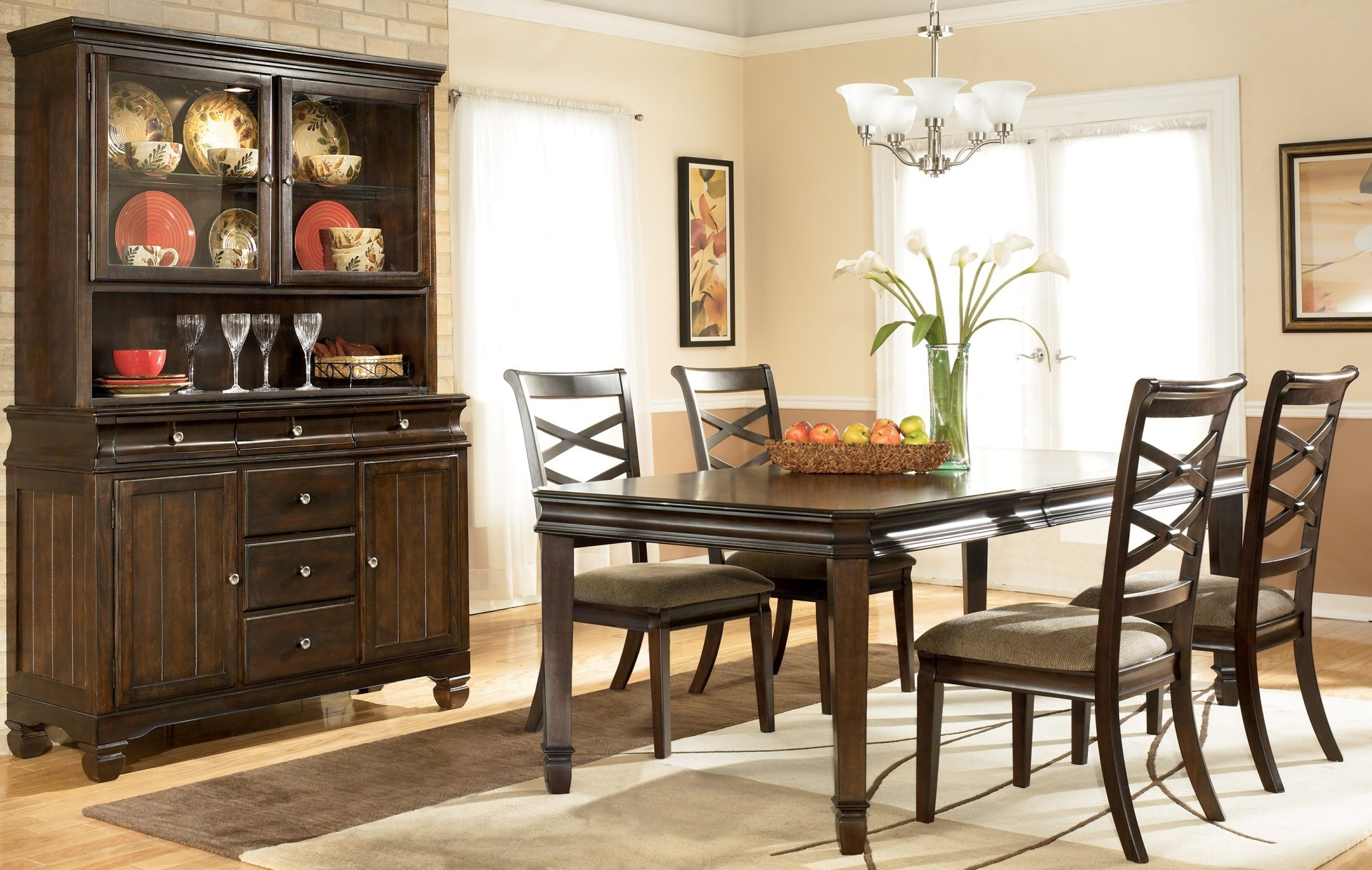 Hayley Dining Room Set from Ashley D480 Coleman Furniture : d480 35 014 80 8132 from colemanfurniture.com size 2164 x 1372 jpeg 621kB