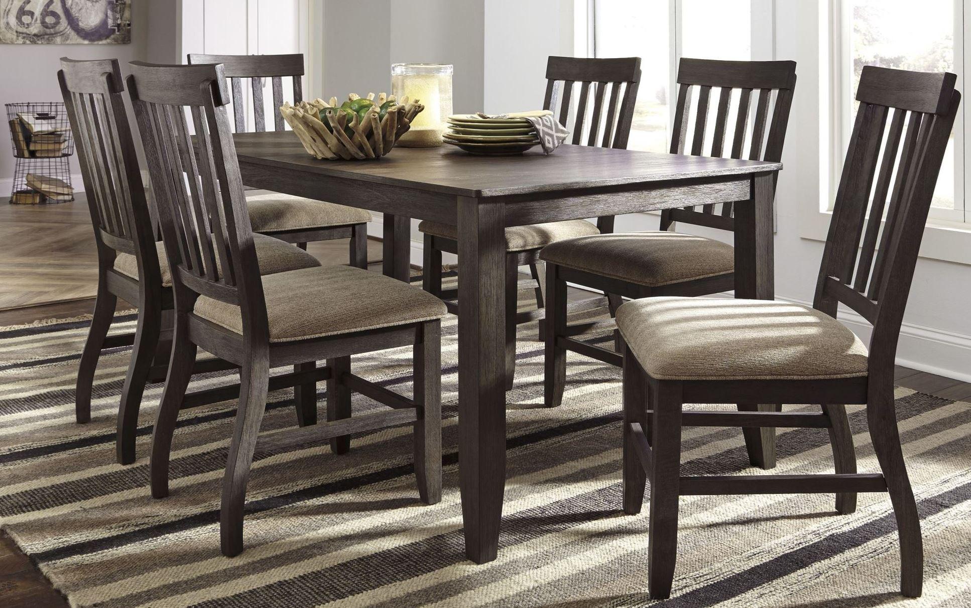 Dresbar Grayish Brown Rectangular Dining Room Set From