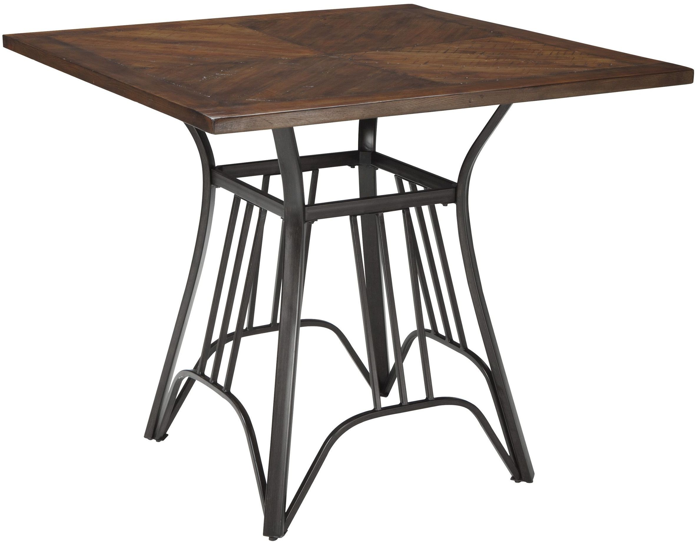 Zanilly two tone square counter height dining table from for Square counter height table