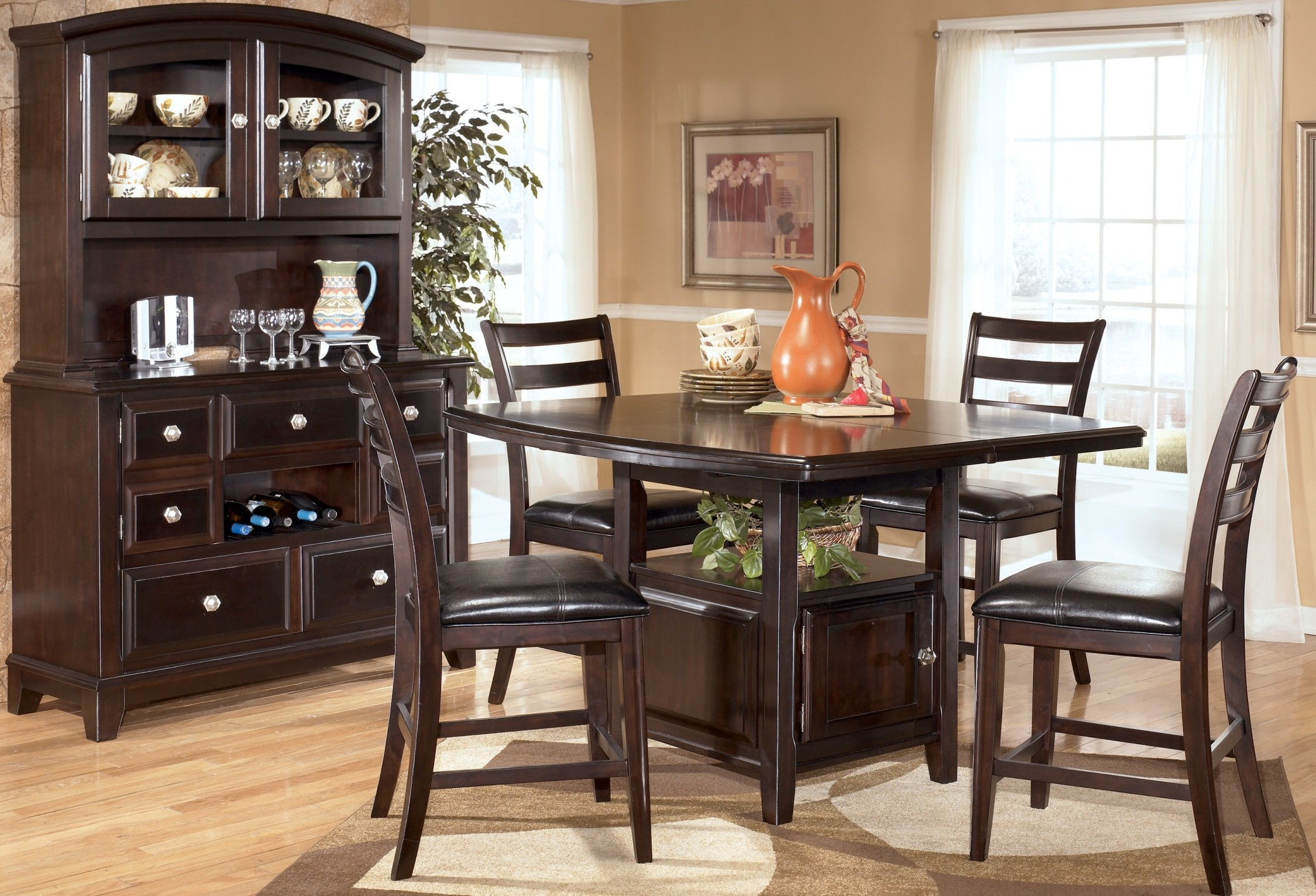 ridgley counter height dining room set from ashley d520