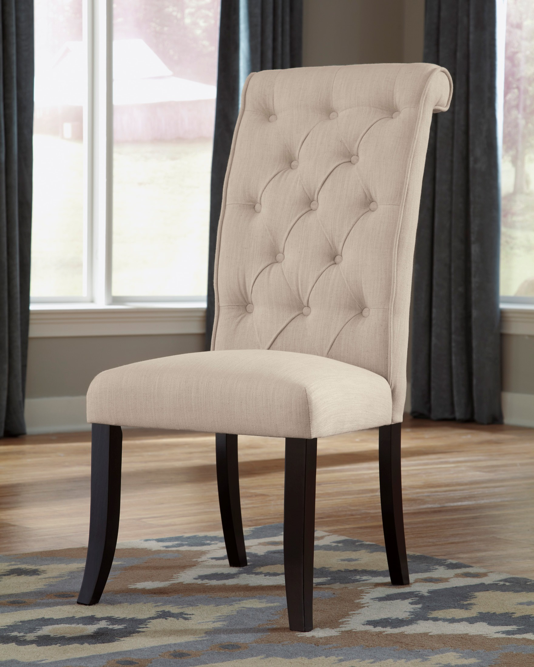 Tripton dining upholstered side chair set of 2 from ashley - Tufted dining room chairs ...