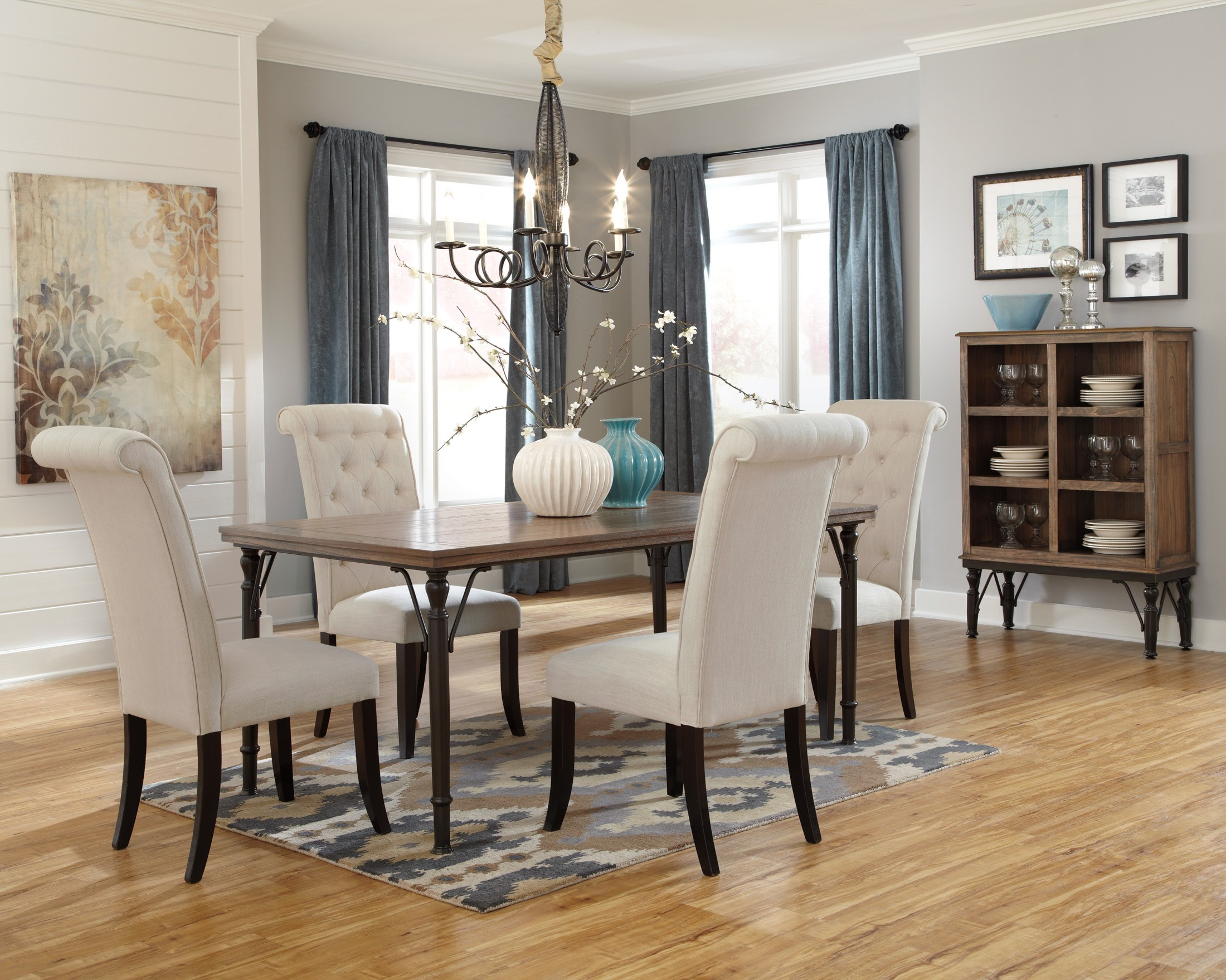 Tripton Dining Upholstered Side Chair Set of 2 from Ashley  : d530 25 014 76 from colemanfurniture.com size 2200 x 1759 jpeg 749kB