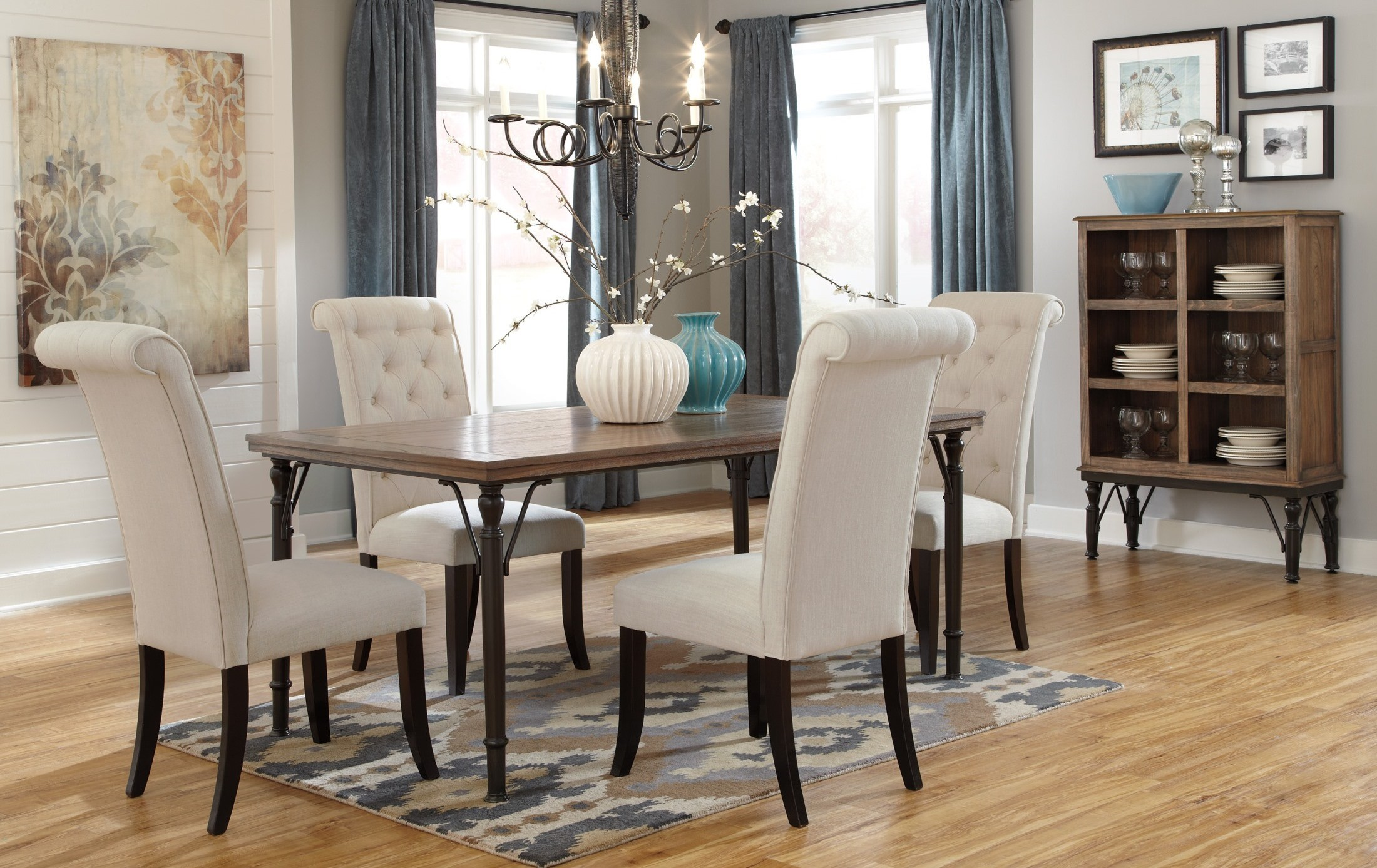 Tripton Rectangular Dining Room Set from Ashley D530 25  : d530 25 014 7612 from colemanfurniture.com size 2200 x 1387 jpeg 641kB
