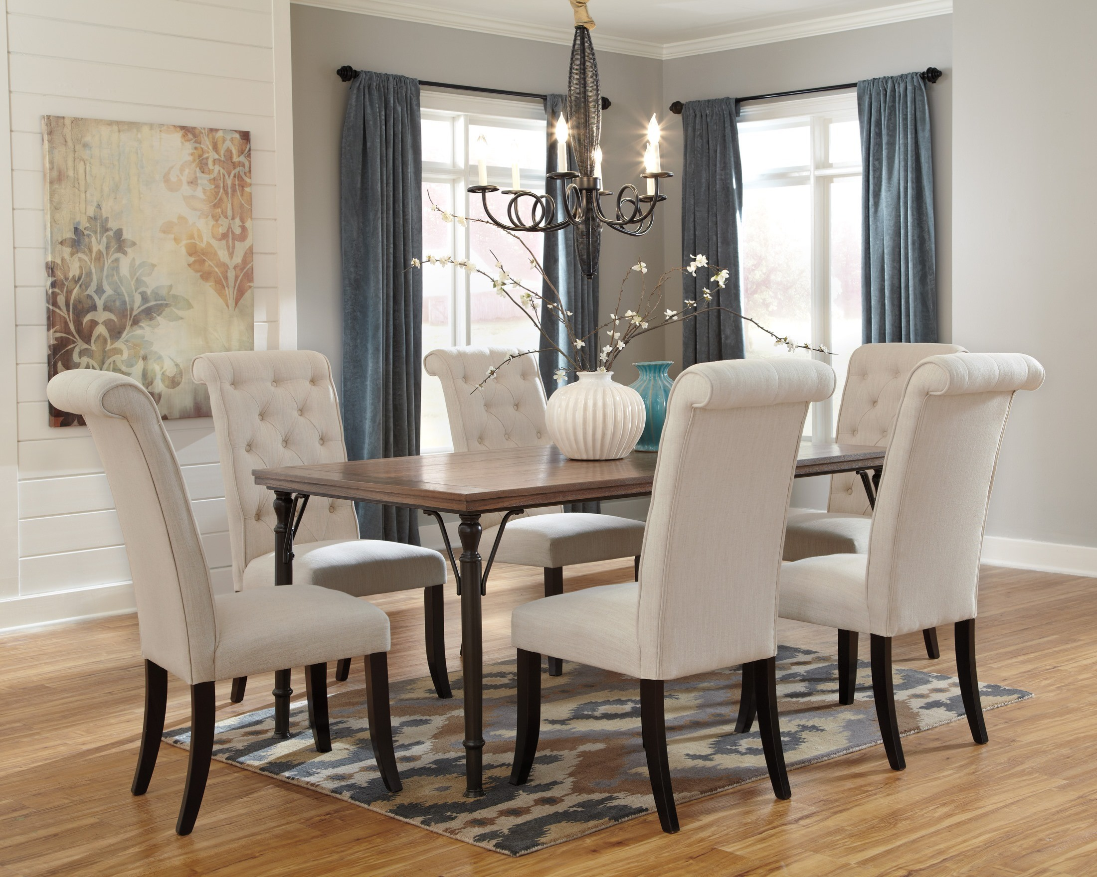 Tripton Rectangular Dining Room Set from Ashley D530 25  : d530 25 0161 from colemanfurniture.com size 2200 x 1760 jpeg 712kB