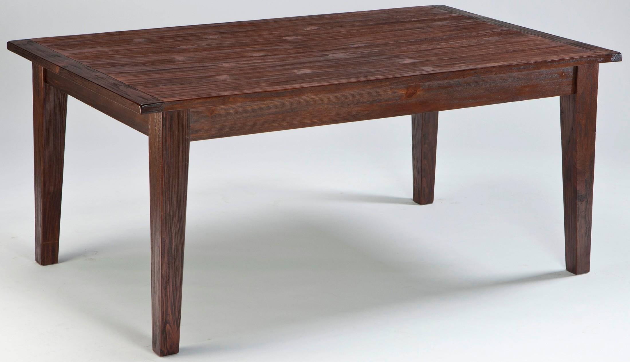 mestler dark brown rectangular dining room table from