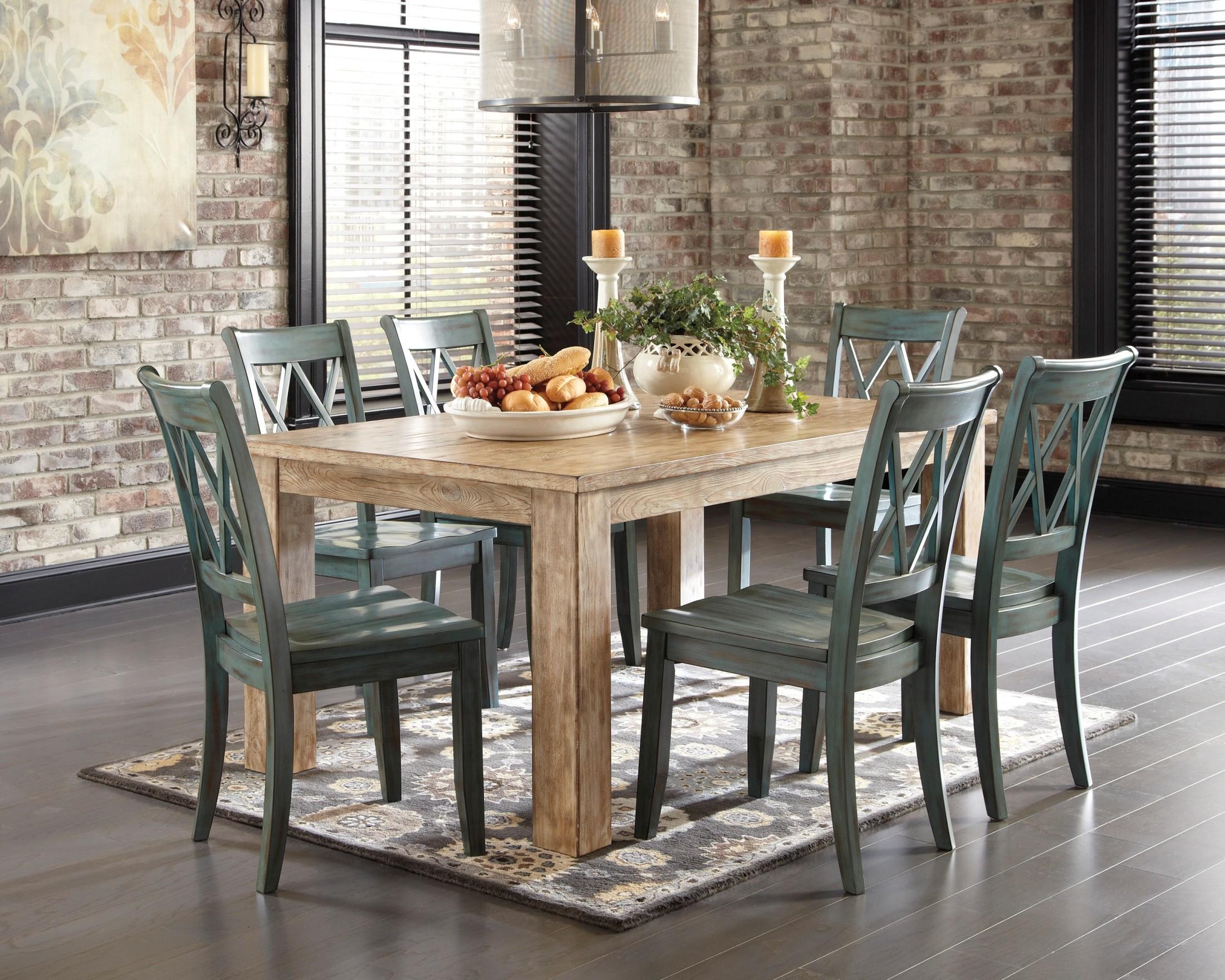 Mestler Driftwood Rectangular Dining Room Table From