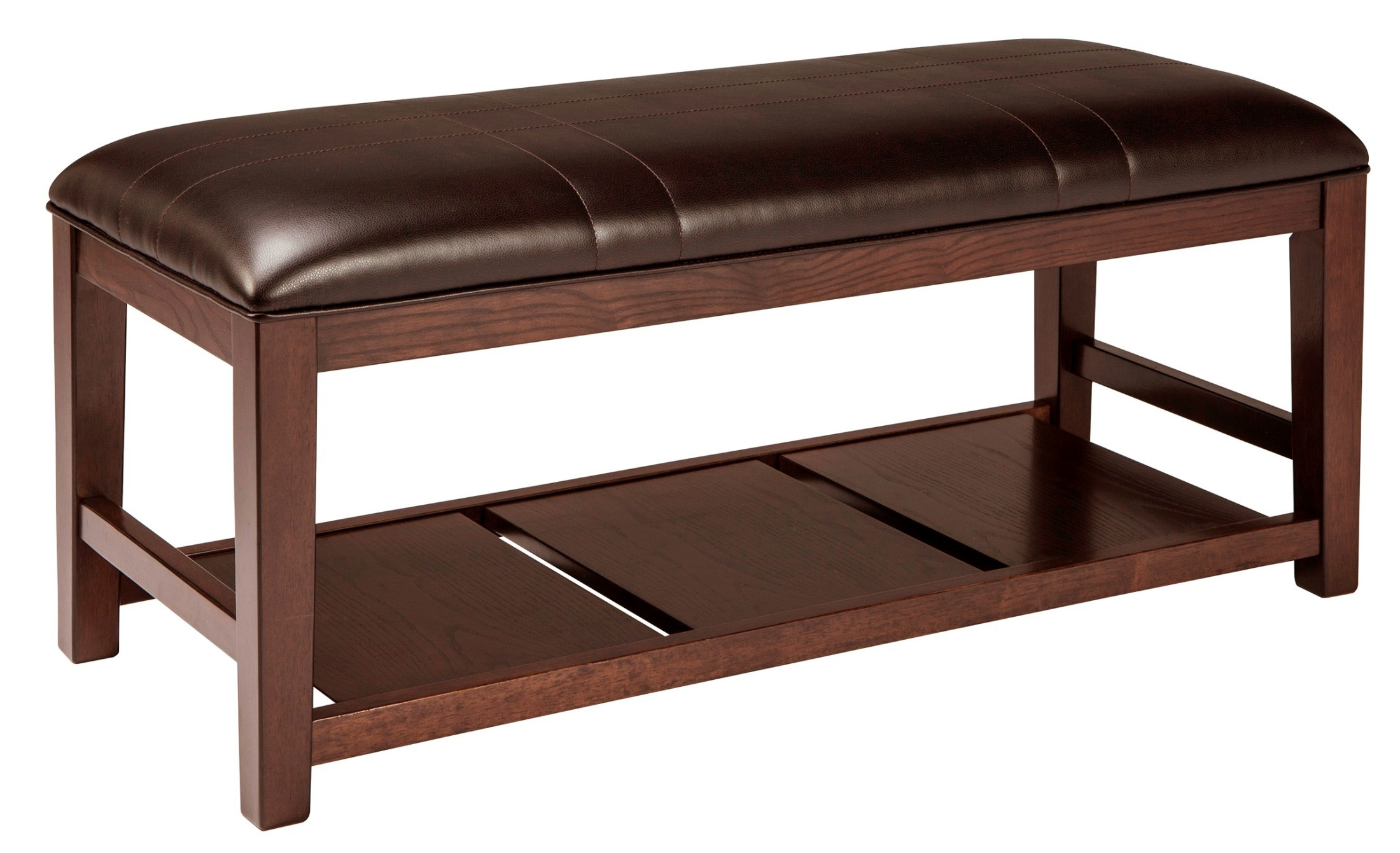 Watson large upholstered dining room bench from ashley for Dining room upholstered bench