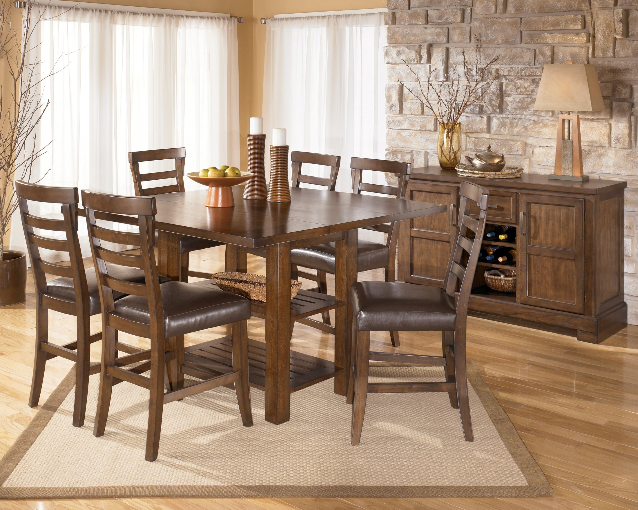 ... Pinderton Counter Height Extension Table - D544-32 - Dining Tables