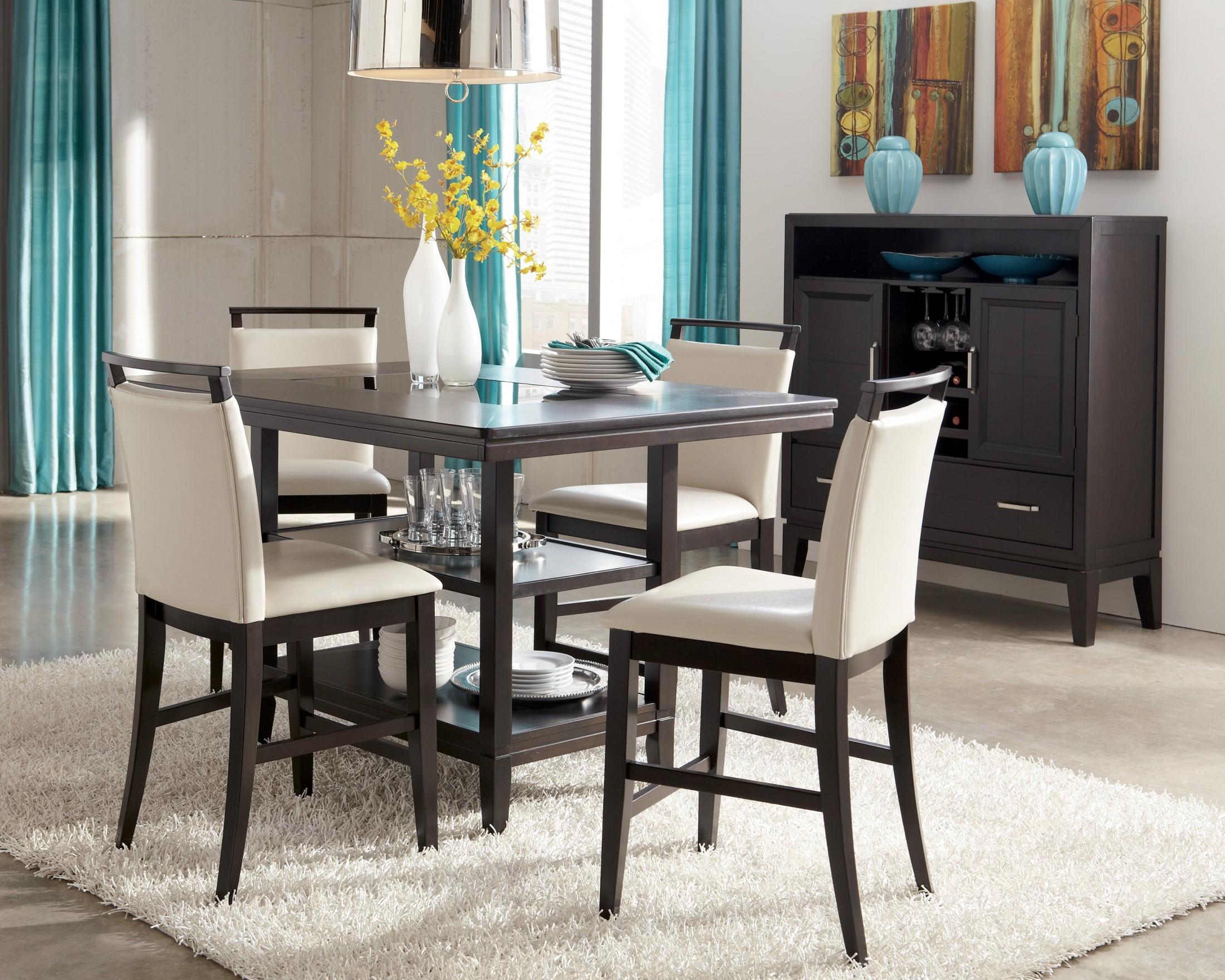 Trishelle Rectangular Counter Dining Room Set D550 32 Ashley Furniture