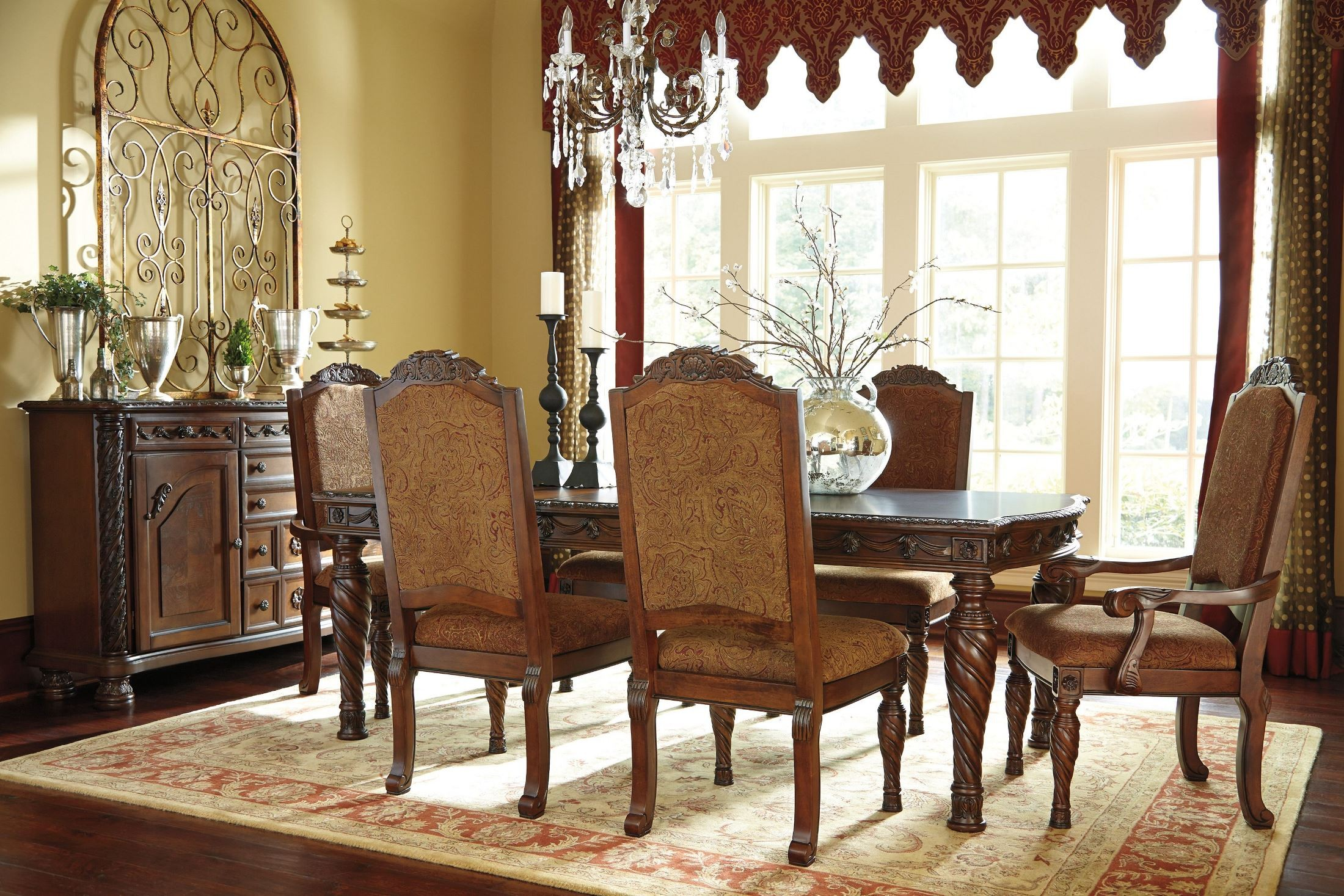 North Shore Living Room Set North Shore Rectangular Extendable Dining Room Set From Ashley