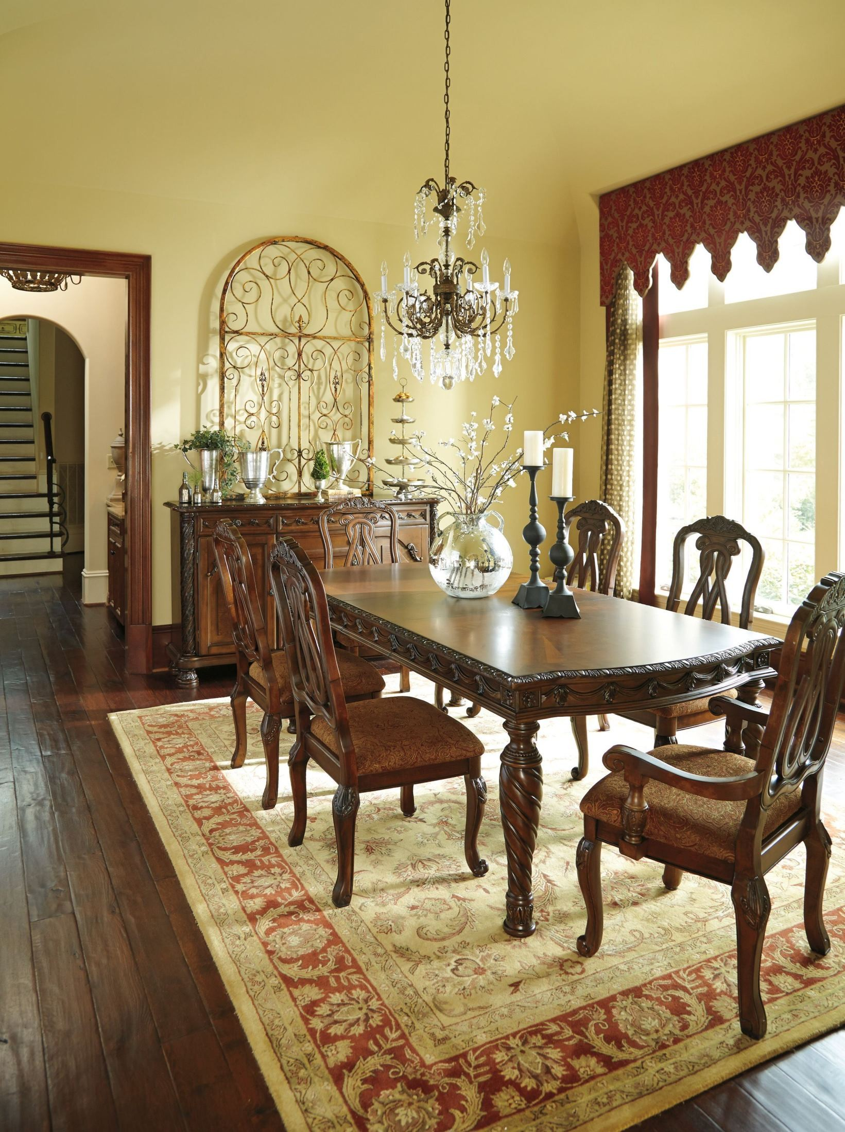 north shore rectangular extendable dining room set from ashley d553