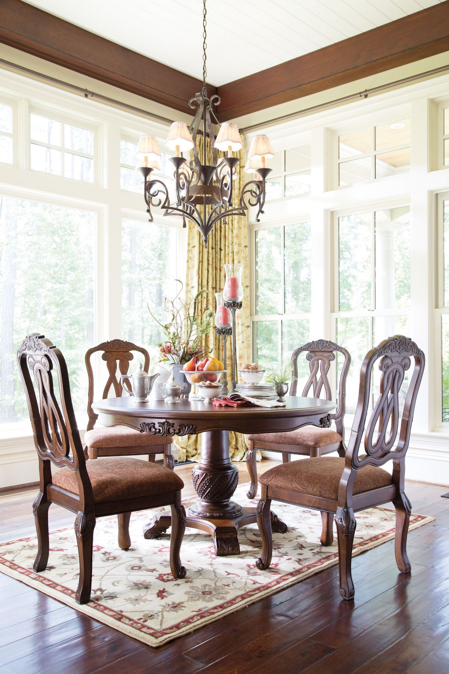 north shore round pedestal dining room set from ashley