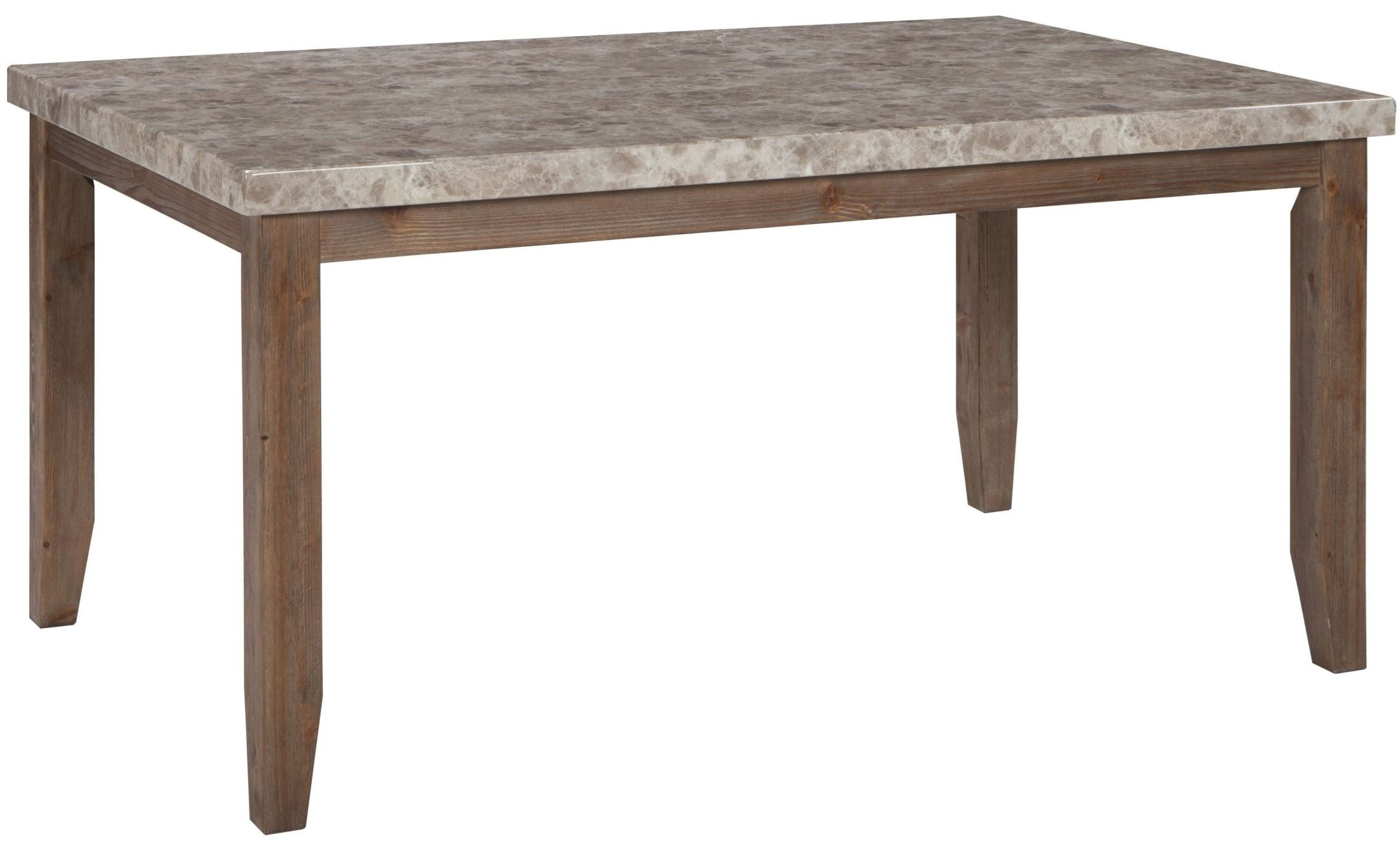Narvilla two tone rectangular dining room table d559 25 for Dining room table for 2