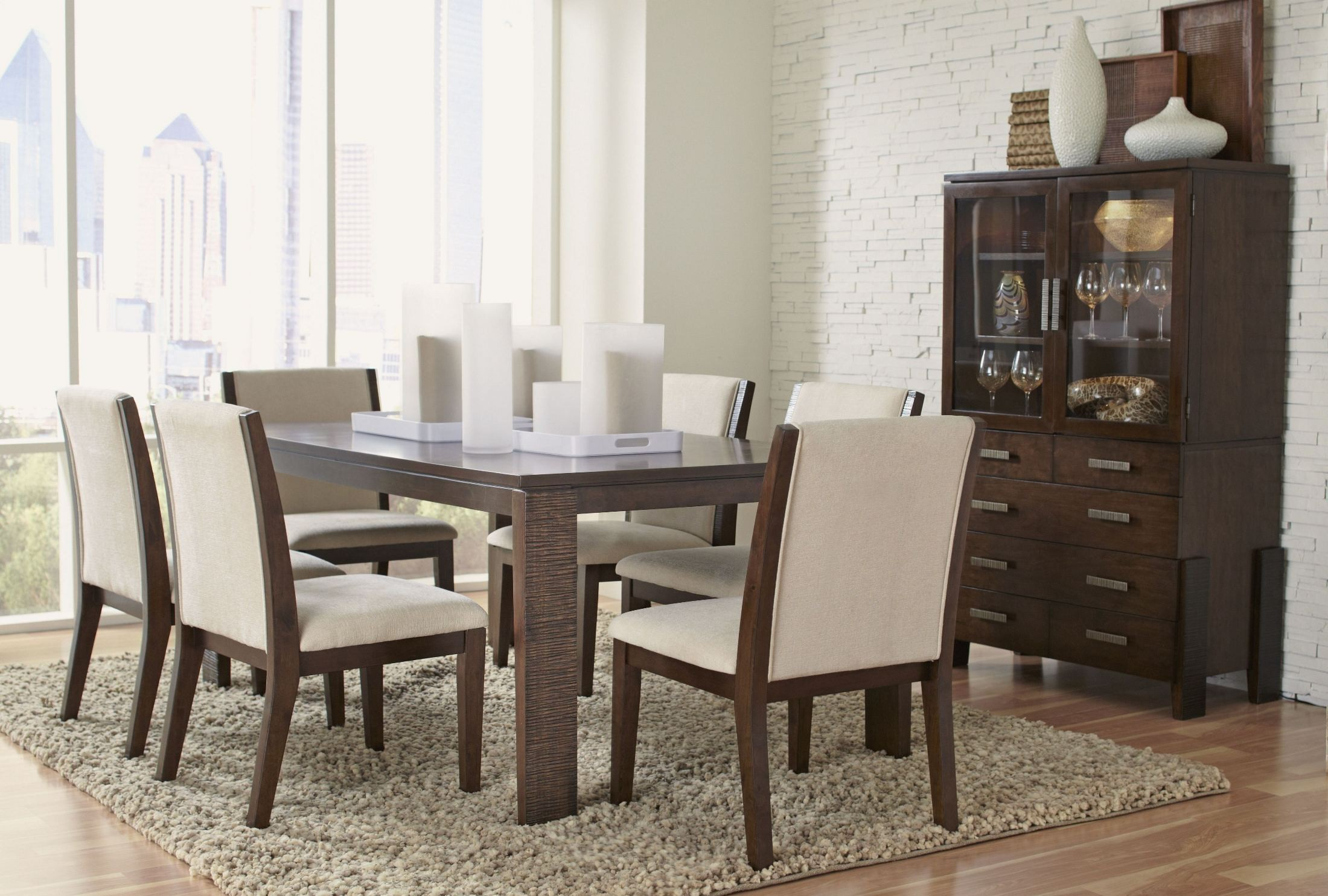 Montego Brown Cherry Rectangular Dining Room Set D560 31 Largo Furniture