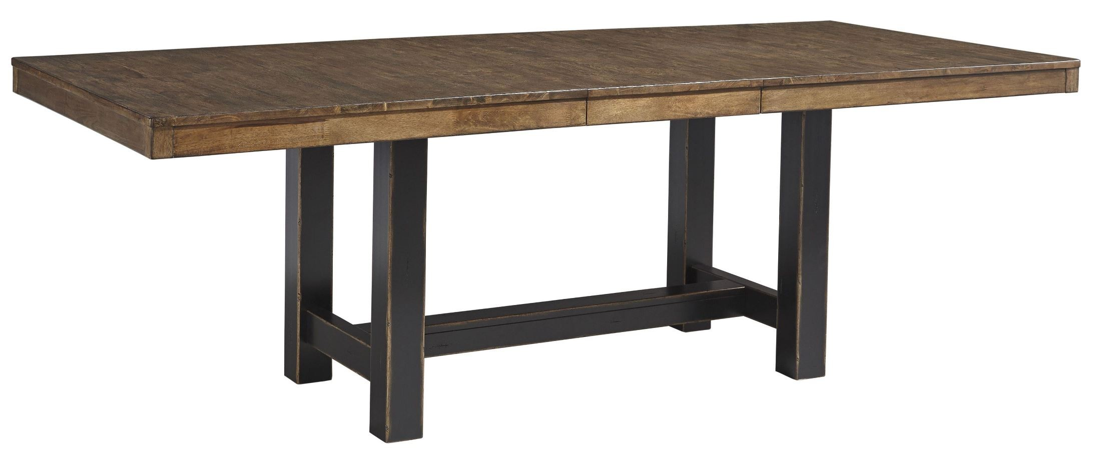 Emerfield Two tone Brown Rectangular Extendable Dining  : d563 35 sw from colemanfurniture.com size 2200 x 912 jpeg 168kB