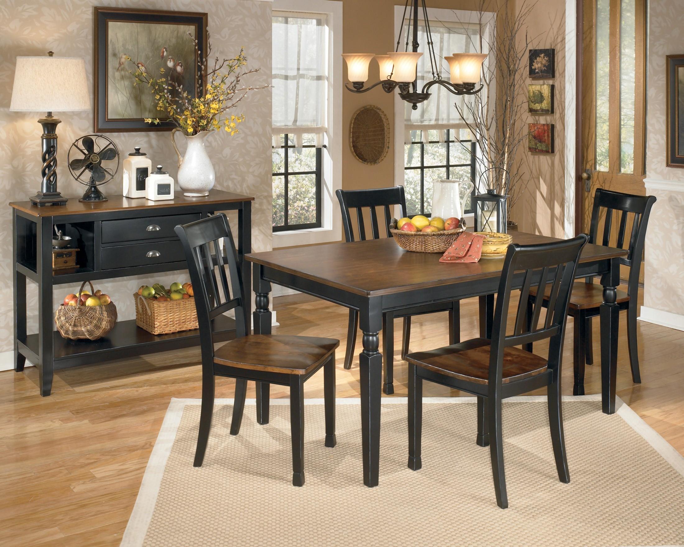 Owingsville Rectangular Dining Room Set from Ashley (D580)   Coleman Furniture