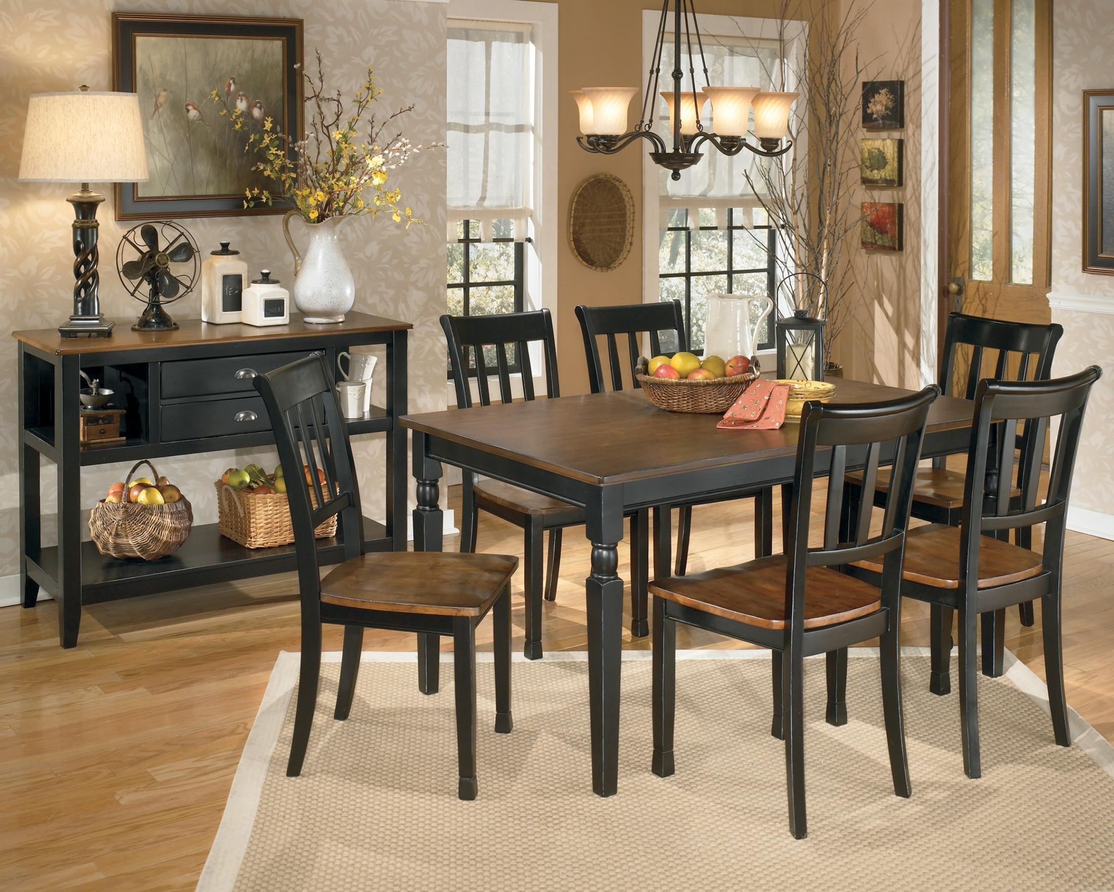 owingsville rectangular dining room set from ashley d580 coleman furniture. Black Bedroom Furniture Sets. Home Design Ideas