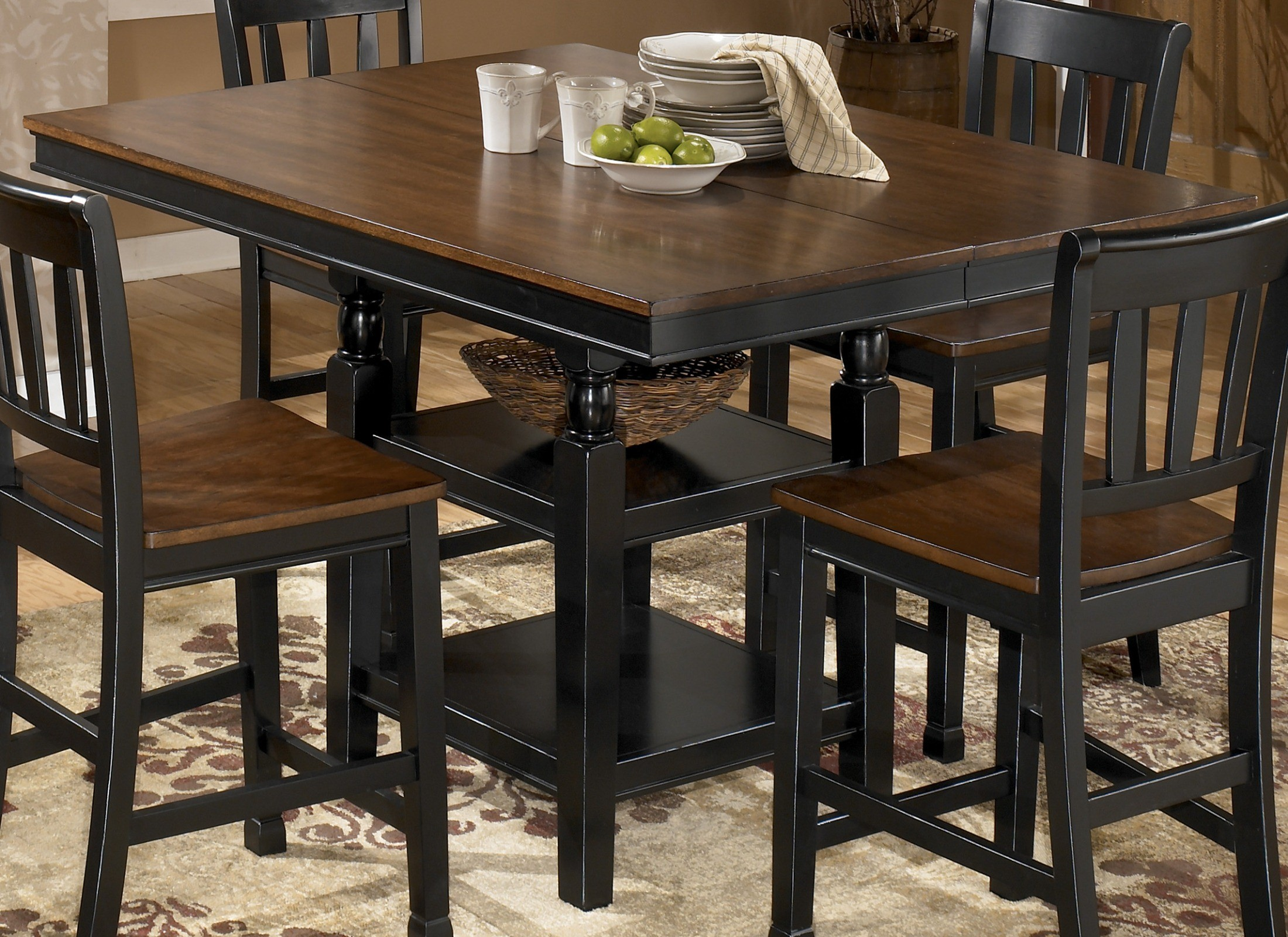 Owingsville Square Counter Height Extension Table from Ashley (D580-32 ...