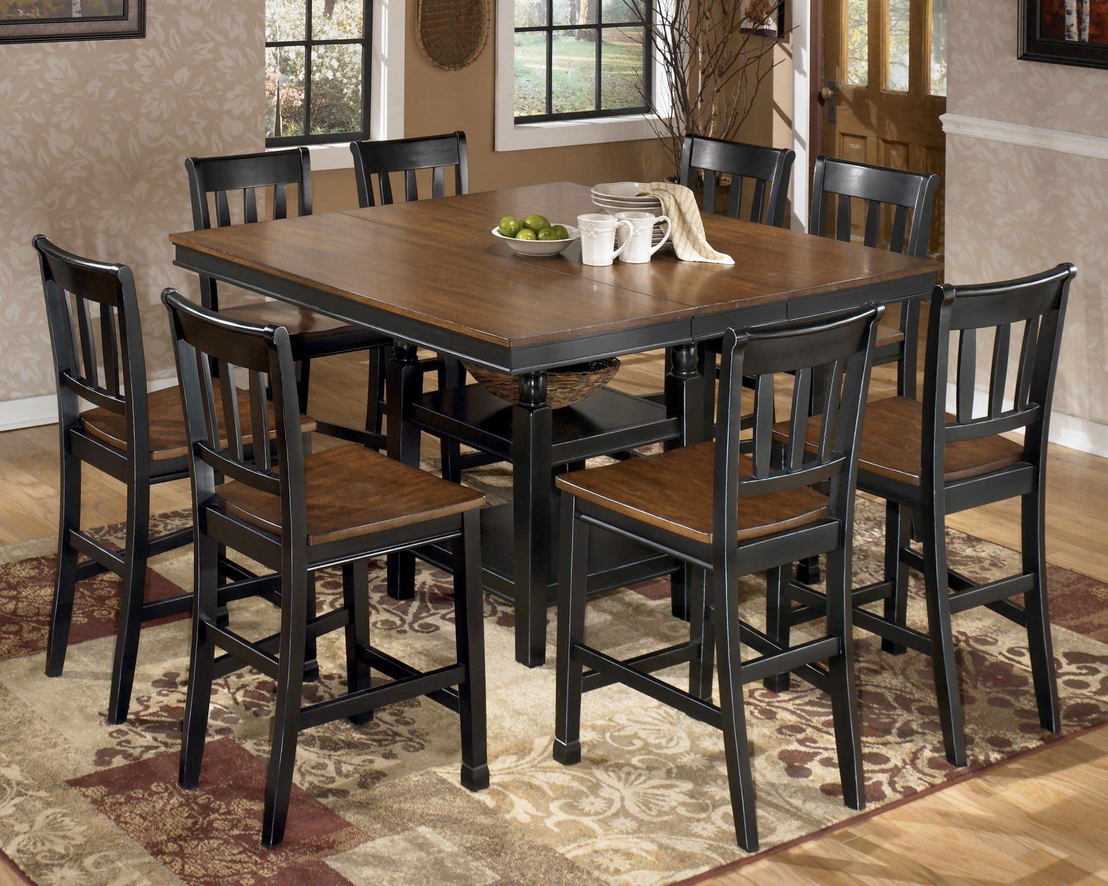 owingsville square counter height extendable dining room set from