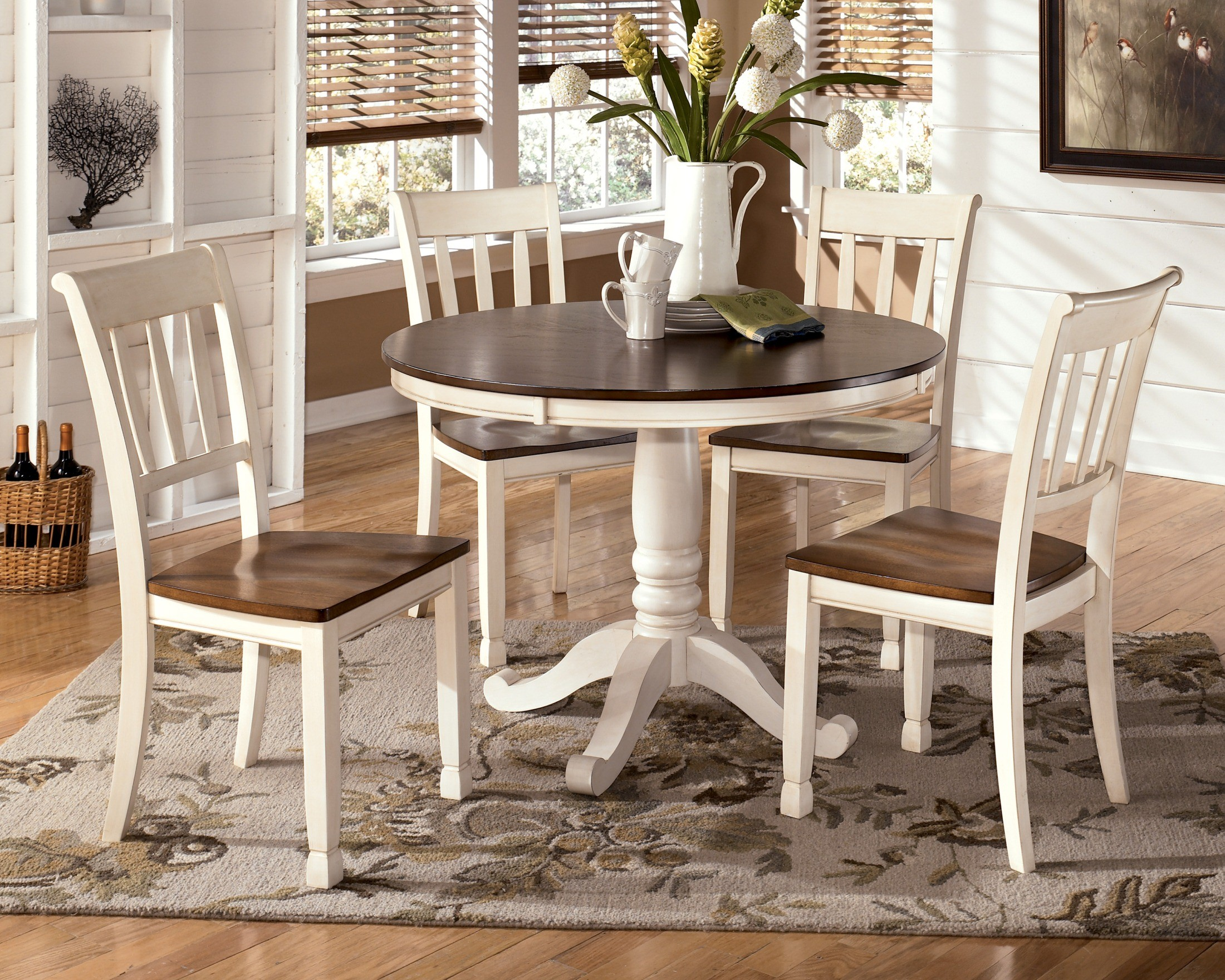 Whitesburg Round Dining Room Set From Ashley D583 15B 15T Coleman Furniture