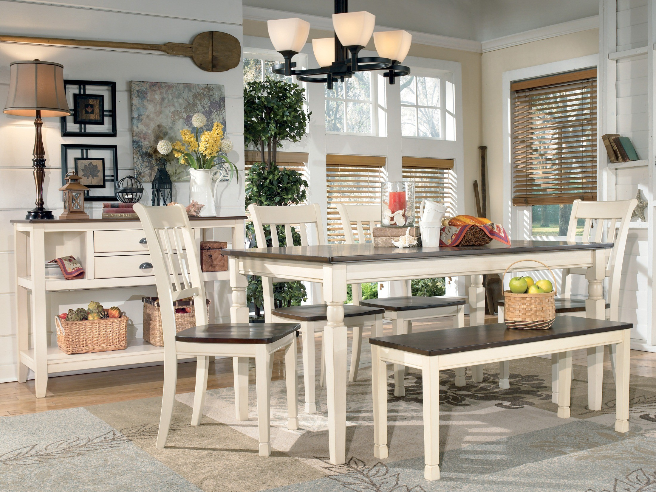 Kitchen Tables Ashley Furniture Whitesburg Rectangular Dining Table From Ashley D583 25