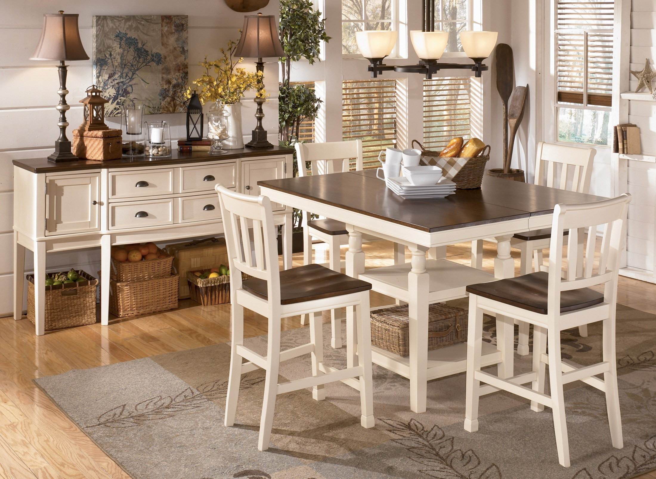 Whitesburg Square Counter Extendable Dining Room Set From Ashley D583 32