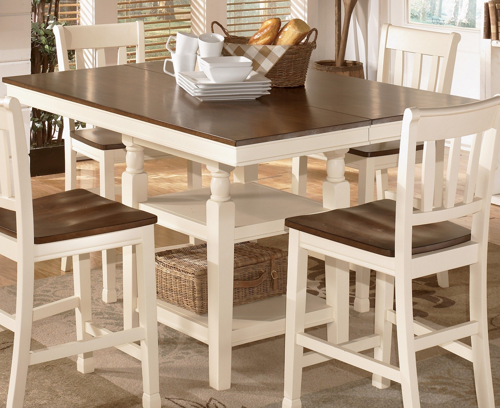 whitesburg square dining room counter extendable dining table from