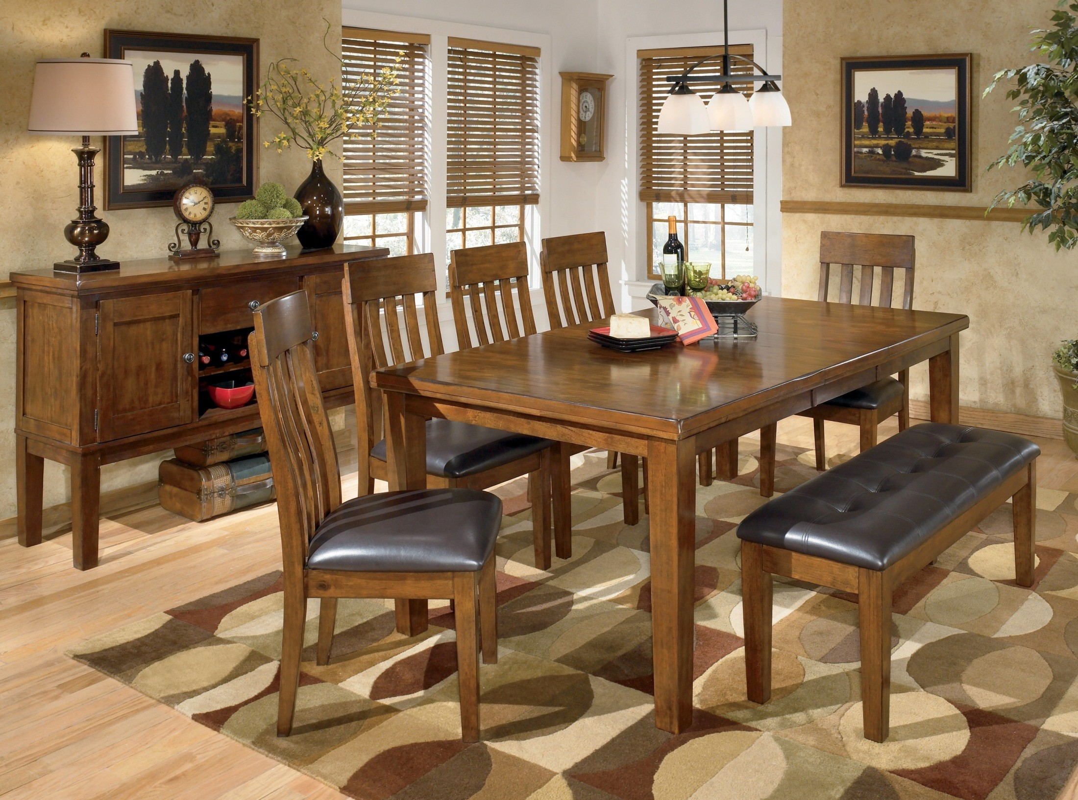 Ralene Rectangular Extendable Dining Room Set From Ashley D594 35 Coleman Furniture