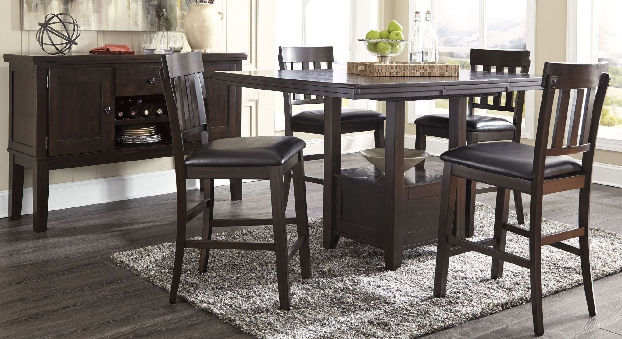 Counter Height Rectangular Dining Set : ... Rectangular Extendable Counter Height Dining Room Set, D596-42, Ashley