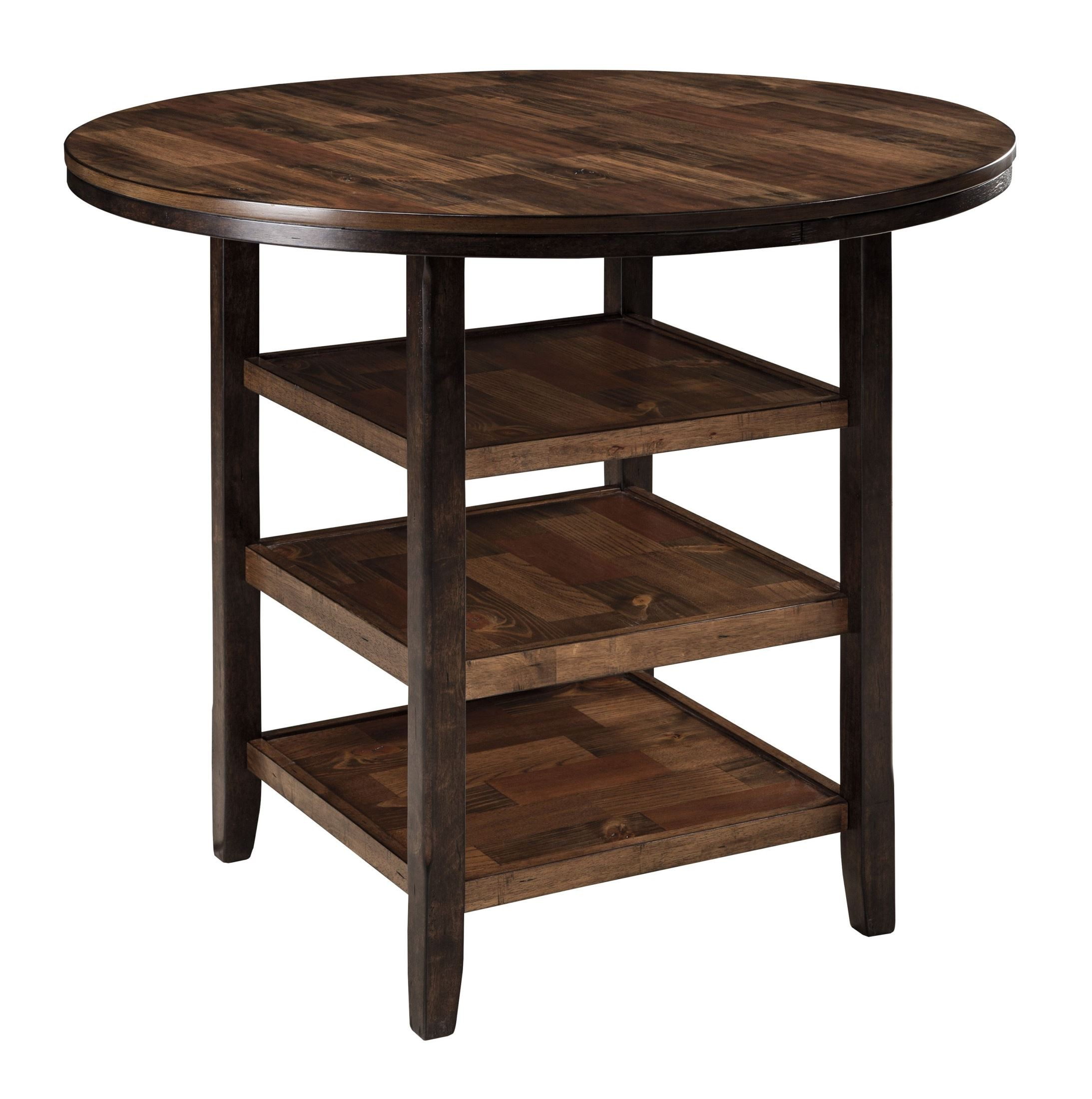 Moriann round counter height dining room table from ashley d608 13 coleman furniture Counter height dining table