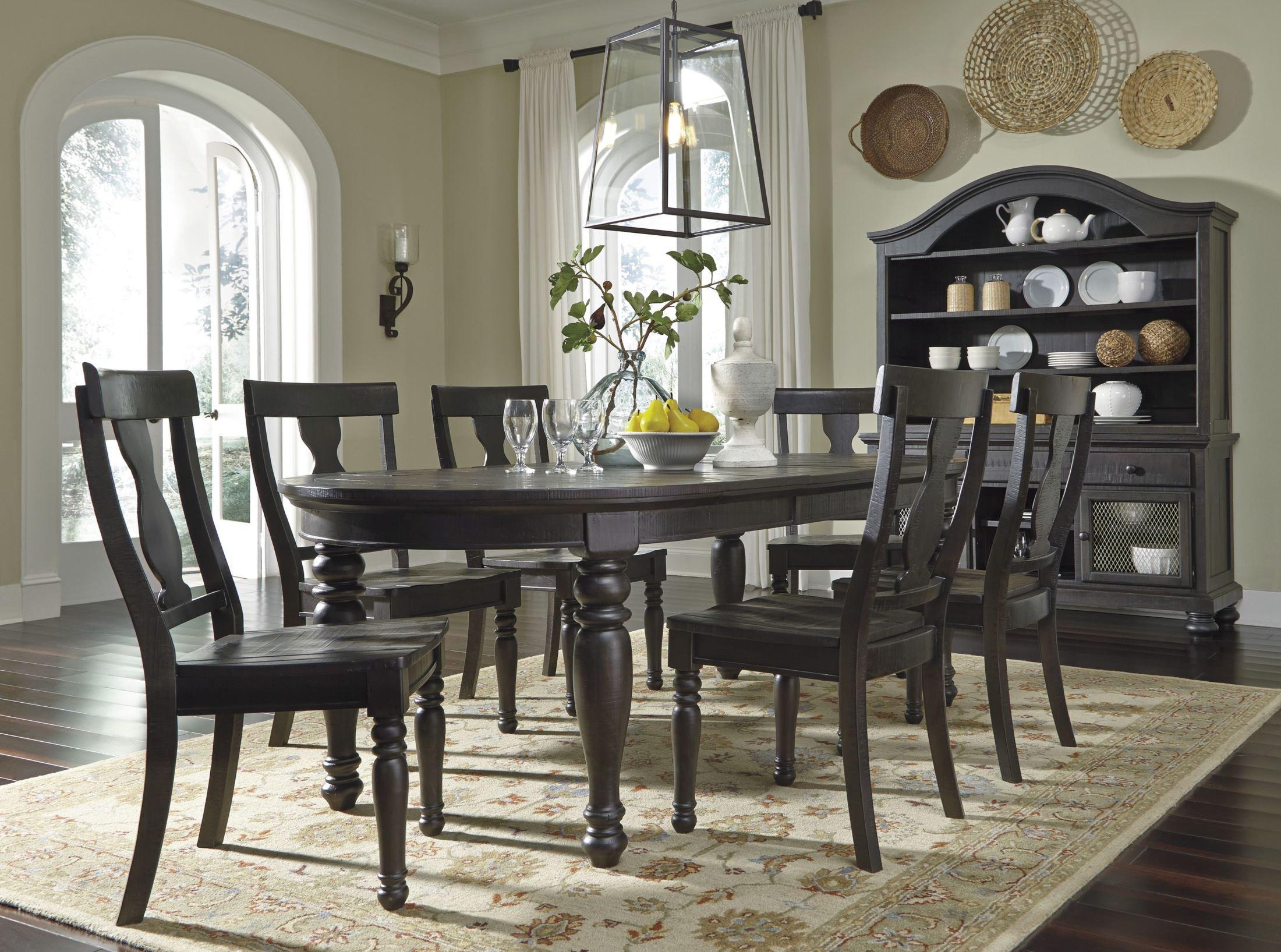 Sharlowe Charcoal Rectangular Extendable Dining Room Set D635 35 Ashley