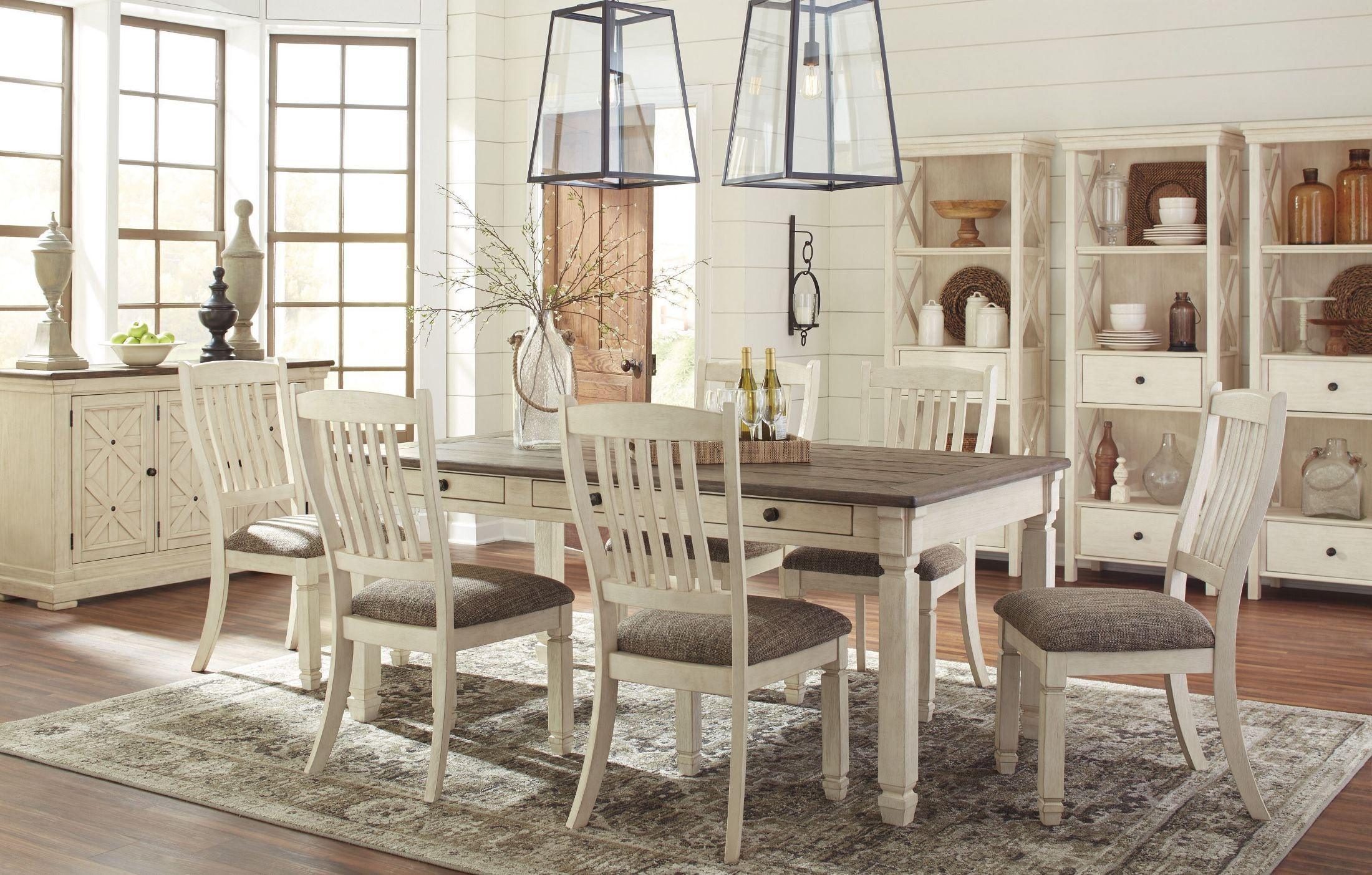 bolanburg white and gray rectangular dining room set d647 25 ashley. Black Bedroom Furniture Sets. Home Design Ideas