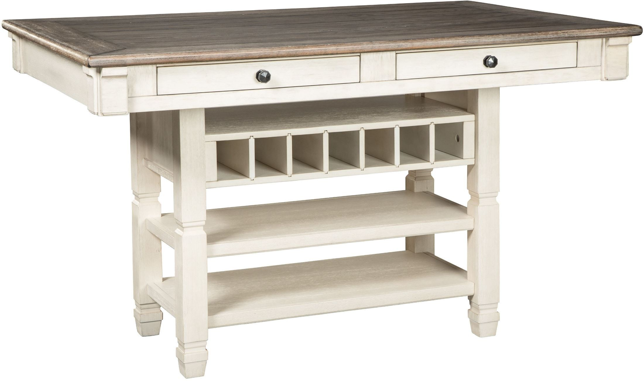 Bolanburg White and Gray Rectangular Counter Height Dining  : d647 32 front sw1 from colemanfurniture.com size 2200 x 1304 jpeg 278kB