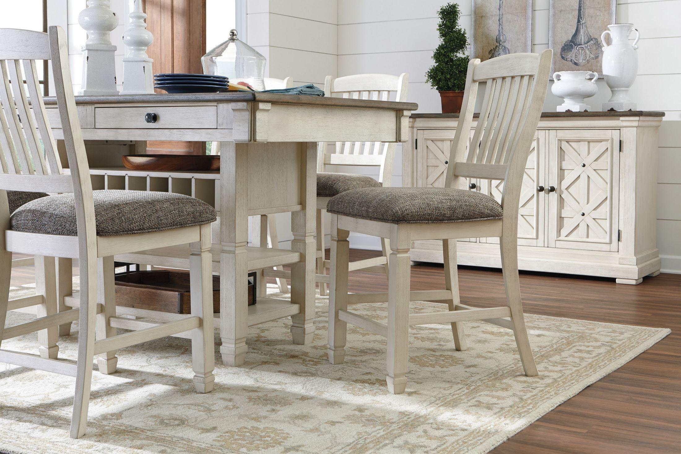 Counter Height Rectangular Dining Set : ... and Gray Rectangular Counter Height Dining Room Set, D647-32, Ashley