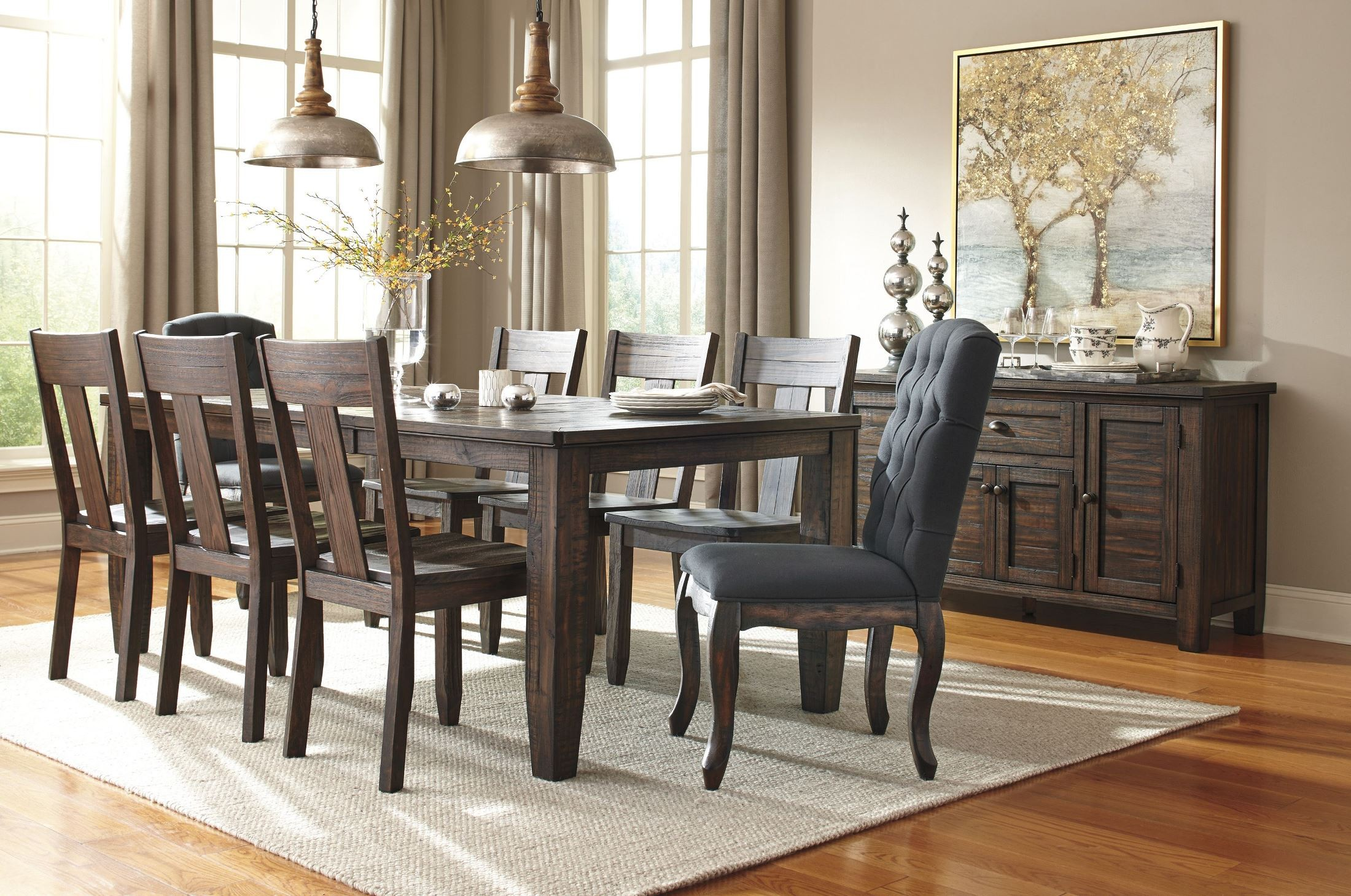 Ashley Trudell Dining room Table sets in black and brown