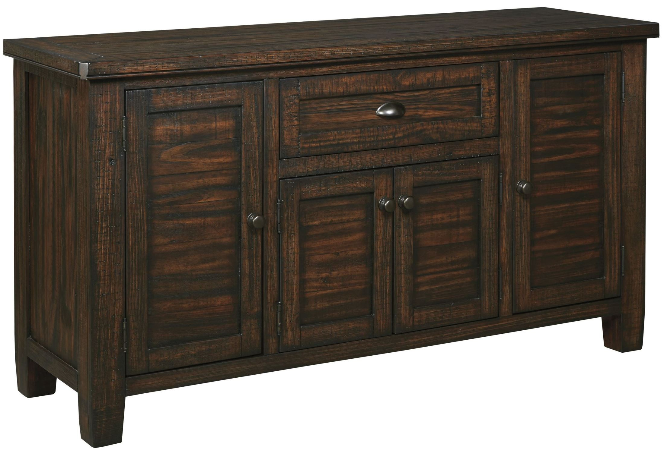 Trudell Dark Brown Dining Room Server From Ashley D658 60 Coleman Furniture