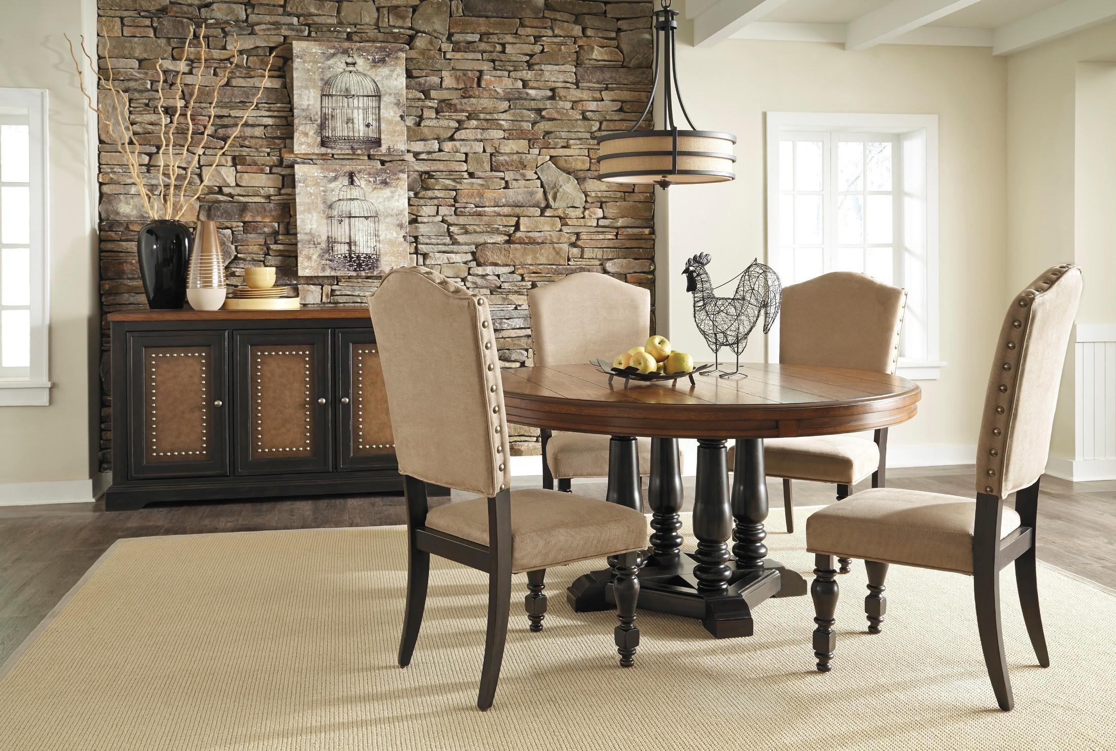 Shardinelle Round Dining Room Set D674 50 Ashley Furniture