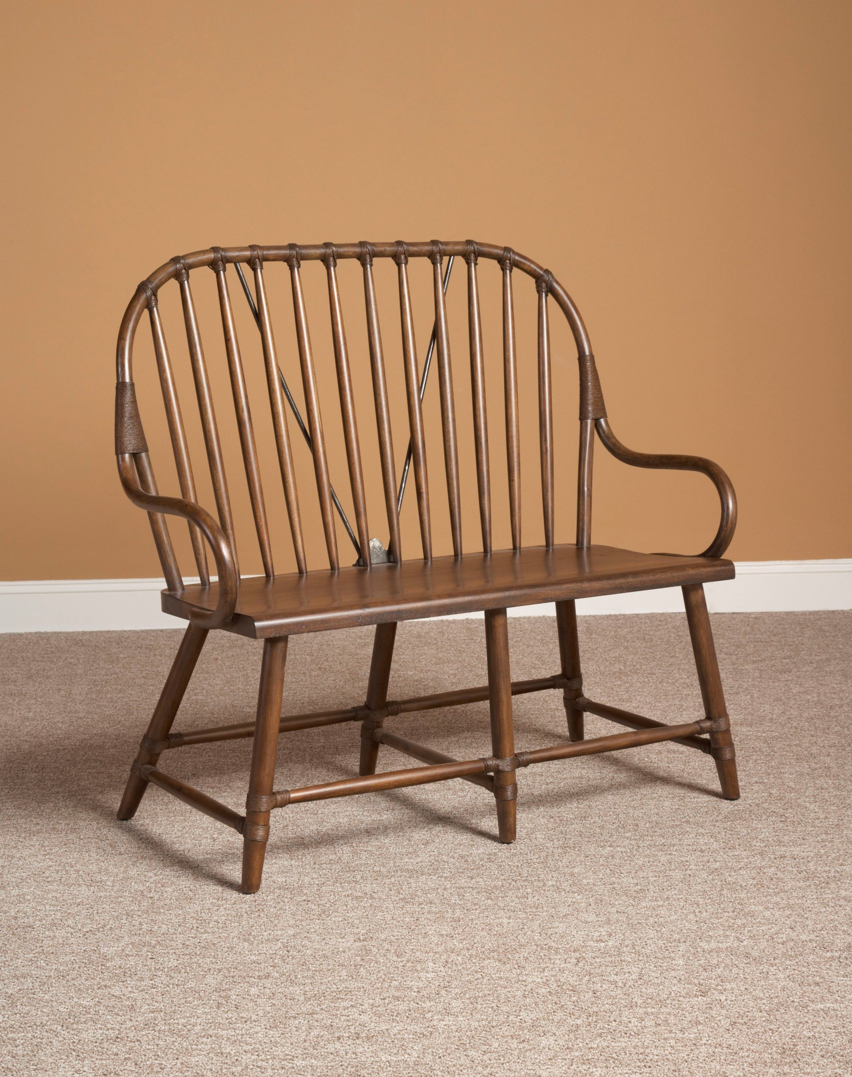 New Bedford Brown Windsor Bench From Largo D682 49b Coleman Furniture