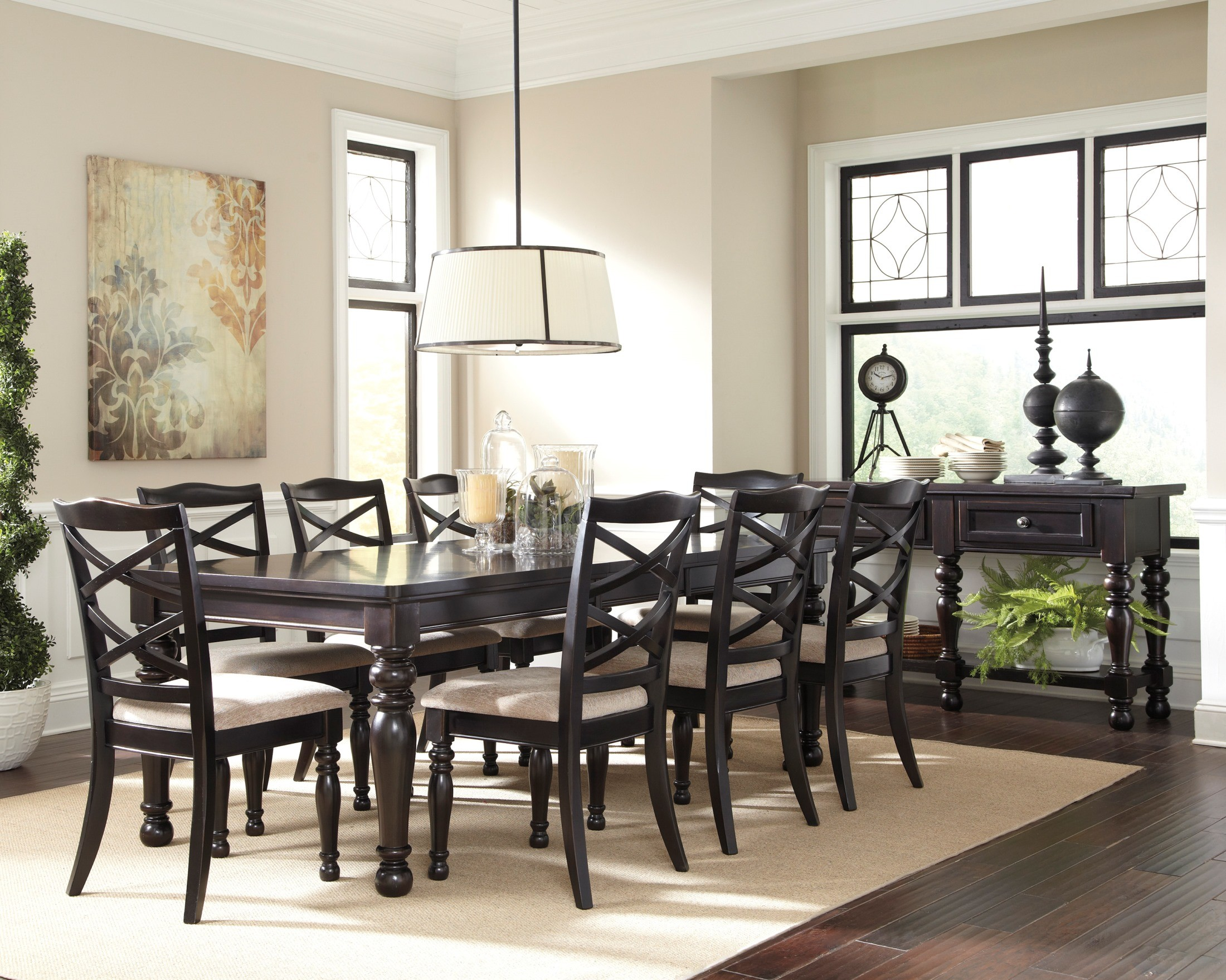 Harlstern Rectangular Extendable Dining Room Set D692 35 Ashley Furniture