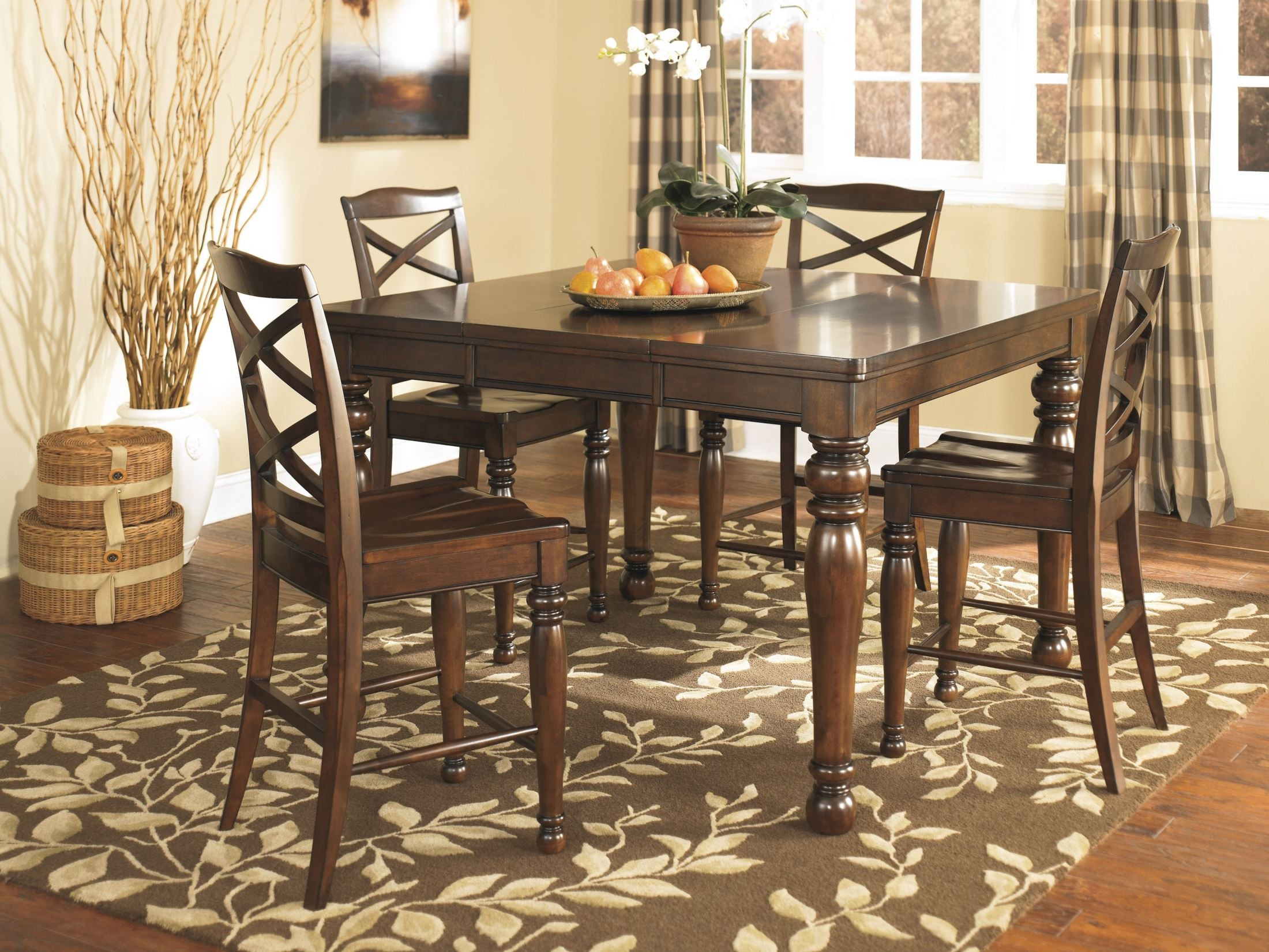 Porter counter stool set of 2 from ashley d697 124 for Furniture 124