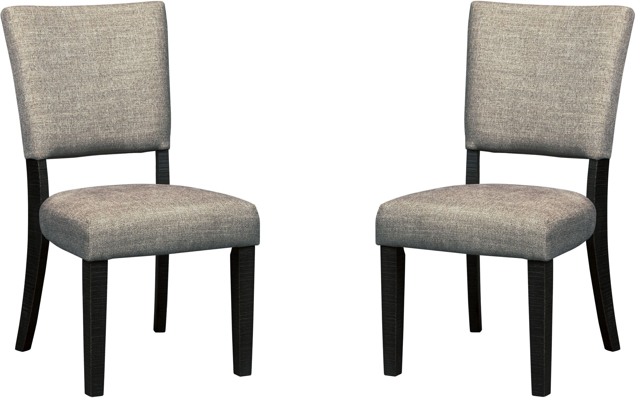 Zurani linen dining upholstered side chair set of 2 d709 for Dining chairs with upholstered seats